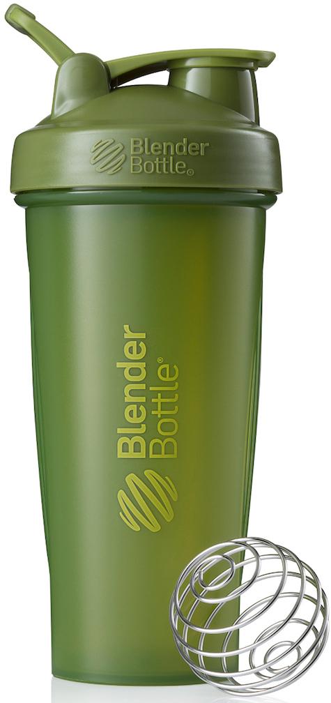 Шейкер спортивный BlenderBottle Classic Full Color, цвет: оливковый, 828 млBB-CL28-FMGRШейкер Classiсот компанииBlender Bottle- многофункциональный, удобный шейкер, который произвел революцию на рынке благодаря своим лидирующим качествам, а именно: 100% герметичности, концептуальному дизайну, максимальной смешиваемости ингредиентов и запатентованным опциям BlenderBall и StayOpen.Шарик-венчик BlenderBall- венчик из 316-хирургической нержавеющей стали, который не подвержен коррозии, легко моется и обеспечивает максимальную смешиваемость любых ингредиентов. ТехнологияStayOpen- инновационная функция шейкера, которая не позволяет крышке закрываться во время питья, что зачастую приносит неудобство и дискомфорт.Качественные материалы не содержат бисфенол (BPA, BPS и другие) и фталаты, благодаря чему шейкер абсолютно безопасен для здоровья. Шейкер герметично закрывается и не допускает протекания при переноске в сумке. Шейкер BlenderBottle Classic идеально подходит как для приготовления любых спортивных и фитнес коктейлей (протеинов, гейнеров, изотоников), так и разнообразных блюд дома.Особенности:- 100% герметичная конструкция- С круглым BlenderBall венчиком внутри- Маркирован тиснением на пластике в миллилитрах и унциях- Широкое горло позволяет легко добавлять ингредиенты- Крышка с резьбой - попадание в резьбу с первого раза- Система StayOpen flip cap - крышка не бьет по носу!- GripperBars - специальные ребра на бутылке, не выскальзывает из рук- Удобный широкий носик - приятно пить.- Можно мыть в посудомоечной машине- Подходит для большинства автомобильных подстаканников- Не содержит бисфенол и фталаты - лучший пластик, как у дорогих детских бутылочек- Защищен патентами США. Простой. Мощный.Самый продаваемый шейкер в мире.
