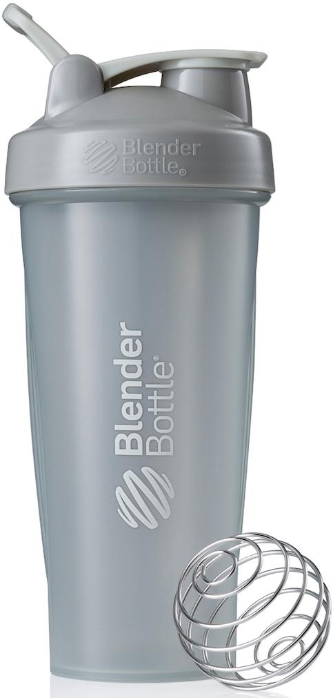 Шейкер спортивный BlenderBottle Classic Full Color, цвет: серый, 828 млBB-CL28-FPGRШейкер Classiсот компанииBlender Bottle- многофункциональный, удобный шейкер, который произвел революцию на рынке благодаря своим лидирующим качествам, а именно: 100% герметичности, концептуальному дизайну, максимальной смешиваемости ингредиентов и запатентованным опциям BlenderBall и StayOpen.Шарик-венчик BlenderBall- венчик из 316-хирургической нержавеющей стали, который не подвержен коррозии, легко моется и обеспечивает максимальную смешиваемость любых ингредиентов. ТехнологияStayOpen- инновационная функция шейкера, которая не позволяет крышке закрываться во время питья, что зачастую приносит неудобство и дискомфорт.Качественные материалы не содержат бисфенол (BPA, BPS и другие) и фталаты, благодаря чему шейкер абсолютно безопасен для здоровья. Шейкер герметично закрывается и не допускает протекания при переноске в сумке. Шейкер BlenderBottle Classic идеально подходит как для приготовления любых спортивных и фитнес коктейлей (протеинов, гейнеров, изотоников), так и разнообразных блюд дома.Особенности:- 100% герметичная конструкция- С круглым BlenderBall венчиком внутри- Маркирован тиснением на пластике в миллилитрах и унциях- Широкое горло позволяет легко добавлять ингредиенты- Крышка с резьбой - попадание в резьбу с первого раза- Система StayOpen flip cap - крышка не бьет по носу!- GripperBars - специальные ребра на бутылке, не выскальзывает из рук- Удобный широкий носик - приятно пить.- Можно мыть в посудомоечной машине- Подходит для большинства автомобильных подстаканников- Не содержит бисфенол и фталаты - лучший пластик, как у дорогих детских бутылочек- Защищен патентами США.Простой. Мощный.Самый продаваемый шейкер в мире.Как повысить эффективность тренировок с помощью спортивного питания? Статья OZON Гид