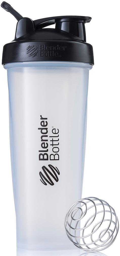 Шейкер спортивный BlenderBottle Classic, цвет: черный, прозрачный, 946 млBB-CL32-CBLKШейкер Classiсот компанииBlender Bottle- многофункциональный, удобный шейкер, который произвел революцию на рынке благодаря своим лидирующим качествам, а именно: 100% герметичности, концептуальному дизайну, максимальной смешиваемости ингредиентов и запатентованным опциям BlenderBall и StayOpen.Шарик-венчик BlenderBall- венчик из 316-хирургической нержавеющей стали, который не подвержен коррозии, легко моется и обеспечивает максимальную смешиваемость любых ингредиентов. ТехнологияStayOpen- инновационная функция шейкера, которая не позволяет крышке закрываться во время питья, что зачастую приносит неудобство и дискомфорт.Качественные материалы не содержат бисфенол (BPA, BPS и другие) и фталаты, благодаря чему шейкер абсолютно безопасен для здоровья. Шейкер герметично закрывается и не допускает протекания при переноске в сумке. Шейкер BlenderBottle Classic идеально подходит как для приготовления любых спортивных и фитнес коктейлей (протеинов, гейнеров, изотоников), так и разнообразных блюд дома.Особенности:- 100% герметичная конструкция- С круглым BlenderBall венчиком внутри- Маркирован тиснением на пластике в миллилитрах и унциях- Широкое горло позволяет легко добавлять ингредиенты- Крышка с резьбой - попадание в резьбу с первого раза- Система StayOpen flip cap - крышка не бьет по носу!- GripperBars - специальные ребра на бутылке, не выскальзывает из рук- Удобный широкий носик - приятно пить.- Можно мыть в посудомоечной машине- Подходит для большинства автомобильных подстаканников- Не содержит бисфенол и фталаты - лучший пластик, как у дорогих детских бутылочек- Защищен патентами США.Простой. Мощный.Самый продаваемый шейкер в мире.Как повысить эффективность тренировок с помощью спортивного питания? Статья OZON Гид