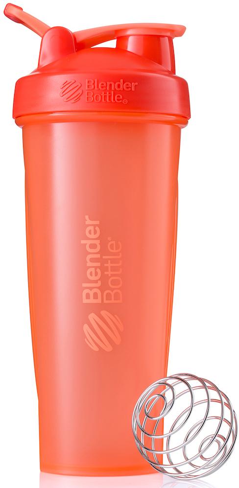 Шейкер спортивный BlenderBottle Classic Full Color, цвет: коралловый, 946 млBB-CL32-FCORШейкер Classiсот компанииBlender Bottle- многофункциональный, удобный шейкер, который произвел революцию на рынке благодаря своим лидирующим качествам, а именно: 100% герметичности, концептуальному дизайну, максимальной смешиваемости ингредиентов и запатентованным опциям BlenderBall и StayOpen.Шарик-венчик BlenderBall- венчик из 316-хирургической нержавеющей стали, который не подвержен коррозии, легко моется и обеспечивает максимальную смешиваемость любых ингредиентов. ТехнологияStayOpen- инновационная функция шейкера, которая не позволяет крышке закрываться во время питья, что зачастую приносит неудобство и дискомфорт.Качественные материалы не содержат бисфенол (BPA, BPS и другие) и фталаты, благодаря чему шейкер абсолютно безопасен для здоровья. Шейкер герметично закрывается и не допускает протекания при переноске в сумке. Шейкер BlenderBottle Classic идеально подходит как для приготовления любых спортивных и фитнес коктейлей (протеинов, гейнеров, изотоников), так и разнообразных блюд дома.Особенности:- 100% герметичная конструкция- С круглым BlenderBall венчиком внутри- Маркирован тиснением на пластике в миллилитрах и унциях- Широкое горло позволяет легко добавлять ингредиенты- Крышка с резьбой - попадание в резьбу с первого раза- Система StayOpen flip cap - крышка не бьет по носу!- GripperBars - специальные ребра на бутылке, не выскальзывает из рук- Удобный широкий носик - приятно пить.- Можно мыть в посудомоечной машине- Подходит для большинства автомобильных подстаканников- Не содержит бисфенол и фталаты - лучший пластик, как у дорогих детских бутылочек- Защищен патентами США. Простой. Мощный.Самый продаваемый шейкер в мире.