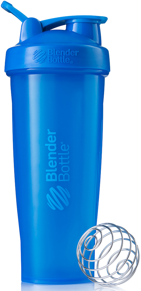 Шейкер спортивный BlenderBottle Classic Full Color, цвет: бирюзовый, 946 млBB-CL32-FCYAШейкер Classiсот компанииBlender Bottle- многофункциональный, удобный шейкер, который произвел революцию на рынке благодаря своим лидирующим качествам, а именно: 100% герметичности, концептуальному дизайну, максимальной смешиваемости ингредиентов и запатентованным опциям BlenderBall и StayOpen.Шарик-венчик BlenderBall- венчик из 316-хирургической нержавеющей стали, который не подвержен коррозии, легко моется и обеспечивает максимальную смешиваемость любых ингредиентов. ТехнологияStayOpen- инновационная функция шейкера, которая не позволяет крышке закрываться во время питья, что зачастую приносит неудобство и дискомфорт.Качественные материалы не содержат бисфенол (BPA, BPS и другие) и фталаты, благодаря чему шейкер абсолютно безопасен для здоровья. Шейкер герметично закрывается и не допускает протекания при переноске в сумке. Шейкер BlenderBottle Classic идеально подходит как для приготовления любых спортивных и фитнес коктейлей (протеинов, гейнеров, изотоников), так и разнообразных блюд дома.Особенности:- 100% герметичная конструкция- С круглым BlenderBall венчиком внутри- Маркирован тиснением на пластике в миллилитрах и унциях- Широкое горло позволяет легко добавлять ингредиенты- Крышка с резьбой - попадание в резьбу с первого раза- Система StayOpen flip cap - крышка не бьет по носу!- GripperBars - специальные ребра на бутылке, не выскальзывает из рук- Удобный широкий носик - приятно пить.- Можно мыть в посудомоечной машине- Подходит для большинства автомобильных подстаканников- Не содержит бисфенол и фталаты - лучший пластик, как у дорогих детских бутылочек- Защищен патентами США. Простой. Мощный.Самый продаваемый шейкер в мире.