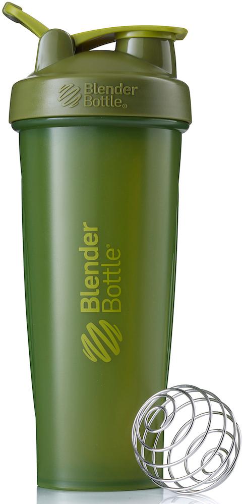 Шейкер спортивный BlenderBottle Classic Full Color, цвет: оливковый, 946 млBB-CL32-FMGRПростой. Мощный.Самый продаваемый шейкер в Мире.Classiсот компанииBlender Bottle- многофункциональный, удобный шейкер, который произвел революцию на рынке благодаря своим лидирующим качествам, а именно: 100% герметичности, концептуальному дизайну, максимальной смешиваемости ингредиентов и запатентованным опциям BlenderBall и StayOpen.Шарик-венчик BlenderBall- венчик из 316-хирургической нержавеющей стали, который не подвержен коррозии, легко моется и обеспечивает максимальную смешиваемость любых ингредиентов. ТехнологияStayOpen- инновационная функция шейкера, которая не позволяет крышке закрываться во время питья, что зачастую приносит неудобство и дискомфорт.Качественные материалы не содержат бисфенол (BPA, BPS и другие) и фталаты, благодаря чему шейкер абсолютно безопасен для здоровья. Шейкер герметично закрывается и не допускает протекания при переноске в сумке. Шейкер BlenderBottle Classic идеально подходит как для приготовления любых спортивных и фитнес коктейлей (протеинов, гейнеров, изотоников), так и разнообразных блюд дома.Особенности:- 100% герметичная конструкция- С круглым BlenderBall венчиком внутри- Маркирован тиснением на пластике в миллилитрах и унциях- Широкое горло позволяет легко добавлять ингредиенты- Крышка с резьбой - попадание в резьбу с первого раза- Система StayOpen flip cap - крышка не бьет по носу!- GripperBars - специальные ребра на бутылке, не выскальзывает из рук- Удобный широкий носик - приятно пить.- Можно мыть в посудомоечной машине- Подходит для большинства автомобильных подстаканников- Не содержит бисфенол и фталаты - лучший пластик, как у дорогих детских бутылочек- Защищен патентами США