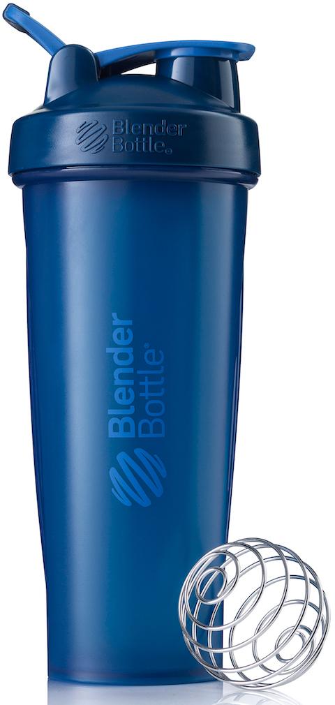 Шейкер спортивный BlenderBottle Classic Full Color, цвет: темно-синий, 946 млBB-CL32-FNAVШейкер Classiсот компанииBlender Bottle- многофункциональный, удобный шейкер, который произвел революцию на рынке благодаря своим лидирующим качествам, а именно: 100% герметичности, концептуальному дизайну, максимальной смешиваемости ингредиентов и запатентованным опциям BlenderBall и StayOpen.Шарик-венчик BlenderBall- венчик из 316-хирургической нержавеющей стали, который не подвержен коррозии, легко моется и обеспечивает максимальную смешиваемость любых ингредиентов. ТехнологияStayOpen- инновационная функция шейкера, которая не позволяет крышке закрываться во время питья, что зачастую приносит неудобство и дискомфорт.Качественные материалы не содержат бисфенол (BPA, BPS и другие) и фталаты, благодаря чему шейкер абсолютно безопасен для здоровья. Шейкер герметично закрывается и не допускает протекания при переноске в сумке. Шейкер BlenderBottle Classic идеально подходит как для приготовления любых спортивных и фитнес коктейлей (протеинов, гейнеров, изотоников), так и разнообразных блюд дома.Особенности:- 100% герметичная конструкция- С круглым BlenderBall венчиком внутри- Маркирован тиснением на пластике в миллилитрах и унциях- Широкое горло позволяет легко добавлять ингредиенты- Крышка с резьбой - попадание в резьбу с первого раза- Система StayOpen flip cap - крышка не бьет по носу!- GripperBars - специальные ребра на бутылке, не выскальзывает из рук- Удобный широкий носик - приятно пить.- Можно мыть в посудомоечной машине- Подходит для большинства автомобильных подстаканников- Не содержит бисфенол и фталаты - лучший пластик, как у дорогих детских бутылочек- Защищен патентами США.Простой. Мощный.Самый продаваемый шейкер в мире.Как повысить эффективность тренировок с помощью спортивного питания? Статья OZON Гид