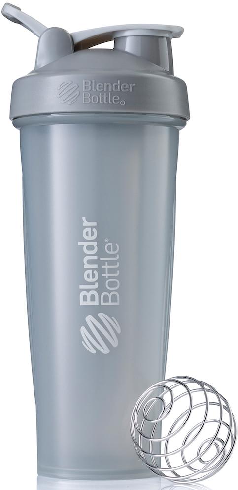 Шейкер спортивный BlenderBottle Classic Full Color, цвет: серый, 946 млBB-CL32-FPGRШейкер Classiсот компанииBlender Bottle- многофункциональный, удобный шейкер, который произвел революцию на рынке благодаря своим лидирующим качествам, а именно: 100% герметичности, концептуальному дизайну, максимальной смешиваемости ингредиентов и запатентованным опциям BlenderBall и StayOpen.Шарик-венчик BlenderBall- венчик из 316-хирургической нержавеющей стали, который не подвержен коррозии, легко моется и обеспечивает максимальную смешиваемость любых ингредиентов. ТехнологияStayOpen- инновационная функция шейкера, которая не позволяет крышке закрываться во время питья, что зачастую приносит неудобство и дискомфорт.Качественные материалы не содержат бисфенол (BPA, BPS и другие) и фталаты, благодаря чему шейкер абсолютно безопасен для здоровья. Шейкер герметично закрывается и не допускает протекания при переноске в сумке. Шейкер BlenderBottle Classic идеально подходит как для приготовления любых спортивных и фитнес коктейлей (протеинов, гейнеров, изотоников), так и разнообразных блюд дома.Особенности:- 100% герметичная конструкция- С круглым BlenderBall венчиком внутри- Маркирован тиснением на пластике в миллилитрах и унциях- Широкое горло позволяет легко добавлять ингредиенты- Крышка с резьбой - попадание в резьбу с первого раза- Система StayOpen flip cap - крышка не бьет по носу!- GripperBars - специальные ребра на бутылке, не выскальзывает из рук- Удобный широкий носик - приятно пить.- Можно мыть в посудомоечной машине- Подходит для большинства автомобильных подстаканников- Не содержит бисфенол и фталаты - лучший пластик, как у дорогих детских бутылочек- Защищен патентами США.Простой. Мощный.Самый продаваемый шейкер в мире.Как повысить эффективность тренировок с помощью спортивного питания? Статья OZON Гид