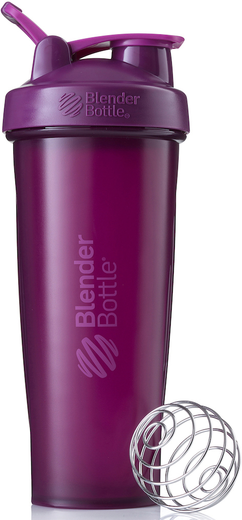 Шейкер спортивный BlenderBottle Classic Full Color, цвет: фиолетовый, 946 млBB-CL32-FPLUШейкер Classiсот компанииBlender Bottle- многофункциональный, удобный шейкер, который произвел революцию на рынке благодаря своим лидирующим качествам, а именно: 100% герметичности, концептуальному дизайну, максимальной смешиваемости ингредиентов и запатентованным опциям BlenderBall и StayOpen.Шарик-венчик BlenderBall- венчик из 316-хирургической нержавеющей стали, который не подвержен коррозии, легко моется и обеспечивает максимальную смешиваемость любых ингредиентов. ТехнологияStayOpen- инновационная функция шейкера, которая не позволяет крышке закрываться во время питья, что зачастую приносит неудобство и дискомфорт.Качественные материалы не содержат бисфенол (BPA, BPS и другие) и фталаты, благодаря чему шейкер абсолютно безопасен для здоровья. Шейкер герметично закрывается и не допускает протекания при переноске в сумке. Шейкер BlenderBottle Classic идеально подходит как для приготовления любых спортивных и фитнес коктейлей (протеинов, гейнеров, изотоников), так и разнообразных блюд дома.Особенности:- 100% герметичная конструкция- С круглым BlenderBall венчиком внутри- Маркирован тиснением на пластике в миллилитрах и унциях- Широкое горло позволяет легко добавлять ингредиенты- Крышка с резьбой - попадание в резьбу с первого раза- Система StayOpen flip cap - крышка не бьет по носу!- GripperBars - специальные ребра на бутылке, не выскальзывает из рук- Удобный широкий носик - приятно пить.- Можно мыть в посудомоечной машине- Подходит для большинства автомобильных подстаканников- Не содержит бисфенол и фталаты - лучший пластик, как у дорогих детских бутылочек- Защищен патентами США.Простой. Мощный.Самый продаваемый шейкер в мире.Как повысить эффективность тренировок с помощью спортивного питания? Статья OZON Гид