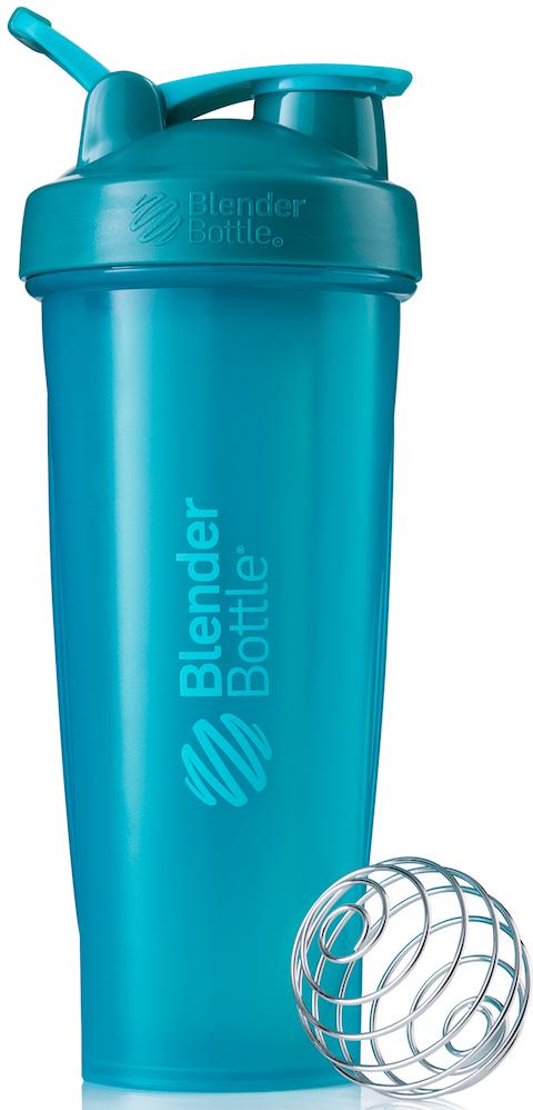 Шейкер спортивный BlenderBottle Classic Full Color, цвет: голубой, 946 млBB-CL32-FTEAШейкер Classiсот компанииBlender Bottle- многофункциональный, удобный шейкер, который произвел революцию на рынке благодаря своим лидирующим качествам, а именно: 100% герметичности, концептуальному дизайну, максимальной смешиваемости ингредиентов и запатентованным опциям BlenderBall и StayOpen. Шарик-венчик BlenderBall- венчик из 316-хирургической нержавеющей стали, который не подвержен коррозии, легко моется и обеспечивает максимальную смешиваемость любых ингредиентов. ТехнологияStayOpen- инновационная функция шейкера, которая не позволяет крышке закрываться во время питья, что зачастую приносит неудобство и дискомфорт. Качественные материалы не содержат бисфенол (BPA, BPS и другие) и фталаты, благодаря чему шейкер абсолютно безопасен для здоровья. Шейкер герметично закрывается и не допускает протекания при переноске в сумке.Шейкер BlenderBottle Classic идеально подходит как для приготовления любых спортивных и фитнес коктейлей (протеинов, гейнеров, изотоников), так и разнообразных блюд дома.Особенности: - 100% герметичная конструкция - С круглым BlenderBall венчиком внутри - Маркирован тиснением на пластике в миллилитрах и унциях - Широкое горло позволяет легко добавлять ингредиенты - Крышка с резьбой - попадание в резьбу с первого раза - Система StayOpen flip cap - крышка не бьет по носу! - GripperBars - специальные ребра на бутылке, не выскальзывает из рук - Удобный широкий носик - приятно пить. - Можно мыть в посудомоечной машине - Подходит для большинства автомобильных подстаканников - Не содержит бисфенол и фталаты - лучший пластик, как у дорогих детских бутылочек - Защищен патентами США.Простой. Мощный. Самый продаваемый шейкер в мире.Как повысить эффективность тренировок с помощью спортивного питания? Статья OZON Гид