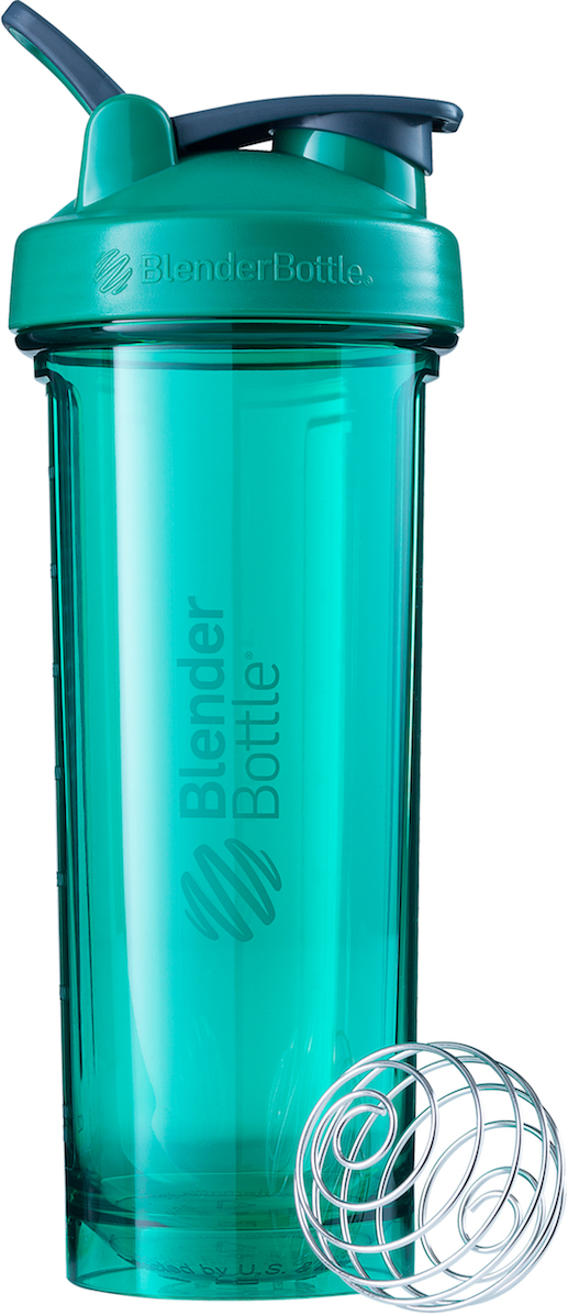 Шейкер спортивный BlenderBottle Pro32 Full Color, цвет: зеленый, 946 мл шейкер blenderbottle pro45 full color 1330ml grey crimson bb pr45 fcgp