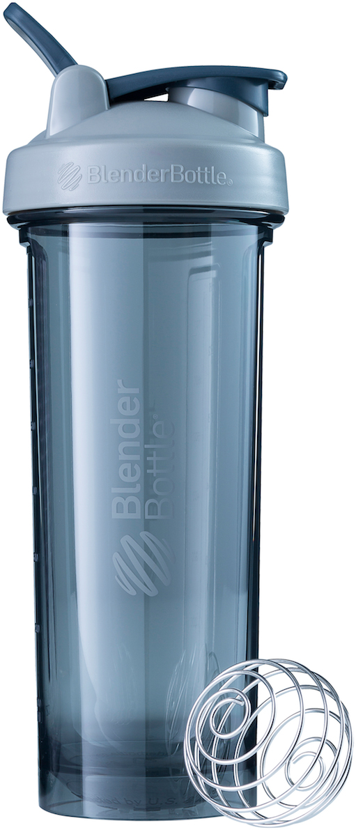 Шейкер спортивный BlenderBottle Pro32 Full Color, цвет: серый, 946 мл шейкер blenderbottle pro45 full color 1330ml grey crimson bb pr45 fcgp