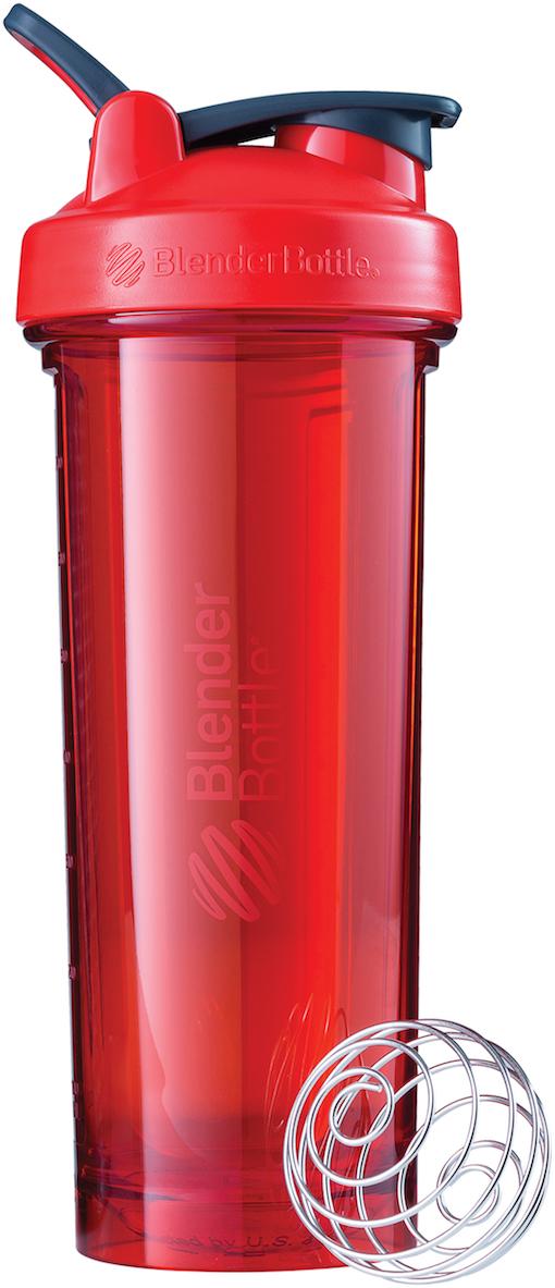 """Шейкер спортивный BlenderBottle Pro32 Full Color, цвет: красный, 946 млBB-PR32-FCREДизайн, проверенный временем. Реализация уровня PRO.Основываясь на проверенном временем дизайне BlenderBottle Classic, Pro32 добавляет все то, о чем вы просили. Все, чтобы стать Вашим шейкером №1.- Уверенный объем 946мл (32oz)Для протеина или гейзера, для аминокислот, BCAA или изотоника, и даже просто для воды: поместится все!- 100% герметичный шейкерВне зависимости от того, пьете вы воду или протеиновый шейк, будьте уверены - Pro32 останется герметичным и защитит вашу сумку и вещи от непредвиденных обстоятельств!- Изготовлен из Eastman TritanНе содержит бисфенолы (BPA, BPS, и другие) и фталаты. Не обладает эстрогенной или андрогенной активностью, и абсолютно безопасен для вашего здоровья и здоровья ваших близких.- Закругленное дно: смешается всё!Нарушили """"великую последовательность"""", насыпали порошок и только потом налили воды? Не переживайте! Закругленное дно Pro32 позволяет венчику BlenderBall идеально смешивать все ингредиенты.- Система SpoutGuard на страже вашего здоровьяТеперь вы легко откроете клапан, а ваши пальцы не испачкают питьевое горлышко шейкера. Ваш организм скажет Вам спасибо!- Не задерживает запахи и не пачкается- Прозрачный как стекло, легкий как пластик? - Доступен для заказа в 7-ми потрясающих цветах?Черный, бирюзовый, малиновый, сливовый, красный, серый графит и изумрудный зеленый. Все здесь!Новое поколение спортивных шейкеров - уже здесь!"""