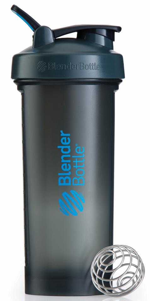 Шейкер спортивный BlenderBottle Pro45 Full Color, цвет: серый, синий, 1,33 л шейкер спортивный blenderbottle pro45 full color цвет черный 1 33 л