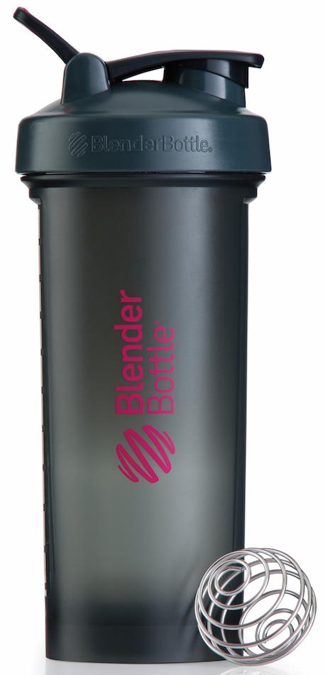 Шейкер спортивный BlenderBottle Pro45, цвет: серый, розовый, фуксия, 1,33 лBB-PR45-FCGPСмешивайте гейнеры, заменители пищи и подобные продукты, требующие большого объема, в самом большом шейкере BlenderBottle на сегодняшний день. Pro45 рожден быть лучшим среди больших: новый мощный стальной металлический шарик 12-Gauge BlenderBall, тяжелее обычного BlenderBall на 50%, абсолютно круглое донышко без краев внутри, и ошеломляющая вместительность - 1330 мл!Круглое донышко без краев внутри позволяет шарику BlenderBall перемешать каждый грамм продукта и не оставить шанса комочкам. Забыли сначала налить воду? Не переживайте. Комочков не будет.- 12-Gauge BlenderBall на 50% тяжелее обычного BlenderBall для перемешивания самых густых коктейлей. Ваш напиток всегда будет однородным и вкусным.- Огромная вместительность 1330 мл подходит для смешивания любых гейнеров. Или возьмите с собой воды на целый день!- Широкое горлышко не позволит насыпать гейнер, протеин или заменитель пищи мимо.- Внутри Pro45 полностью можно разместить контейнеры BlenderBottle ProStak Expansion Pak – экономьте место в вашей сумке.Особенности:- Новый запатентованный 12-Gauge BlenderBall- 100% герметичный шейкер- Огромная емкость - 1330мл!- Широкое горлышко- Шкала в миллилитрах и унциях- Можно мыть в посудомоечной машине - Круглое основание внутри для максимального смешивания всех ингредиентов- Носик защищен от прикосновений для гигиены питья- Безопасный пластик не содержит бисфенол (BPA, BPS и другие) и фталаты