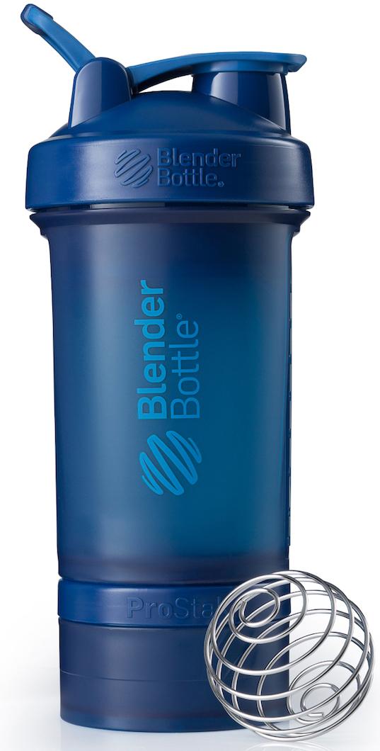 Шейкер спортивный BlenderBottle ProStak Full Color, с контейнером, цвет: темно-синий, 650 млBB-PRSK-FNAVBlenderBottle ProStak - это шейкер с уникальной на сегодняшний день системой хранения, адаптируемой к любимымвашим потребностям.- шейкер + гибкая система контейнеров Twist'nLock (100 мл, 150 мл, 250 мл*, контейнер для таблеток - в любыхколичествах и комбинациях**)- независимая система контейнеров- запатентованная петля для удобства транспортировки- лучшая технология смешивания благодаря шарику-венчику BlenderBall- 10 стильных расцветок.Качественные материалы не содержат бисфенол (BPA) и фталаты, благодаря чему шейкер абсолютно безопасен дляздоровья. Шейкер герметично закрывается и не допускает протекания при переноске в сумке. Шарик-венчик BlenderBallс легкостью смешивает даже самые плотные ингредиенты, а широкое горлышко делает питье комфортным. Гибкая система контейнеров позволяет использовать любые комбинации для получения необходимого объема, авозможность использовать контейнеры Expansion Pak как вместе, так и отдельно от шейкера позволит взять с собойвсе, что нужно даже при ограниченном объеме вашей сумки.Уникальная система Все-в-Одном!* Экстра-большой контейнер 250 мл докупается отдельно в составе набора контейнеров ProStak Expansion Pak** Благодаря системе Twist'n Lock вы можете собрать нужную вам комбинацию контейнеров. Любые размеры илюбое количество контейнеров. Соберите свой уникальный шейкер!Как повысить эффективность тренировок с помощью спортивного питания? Статья OZON Гид