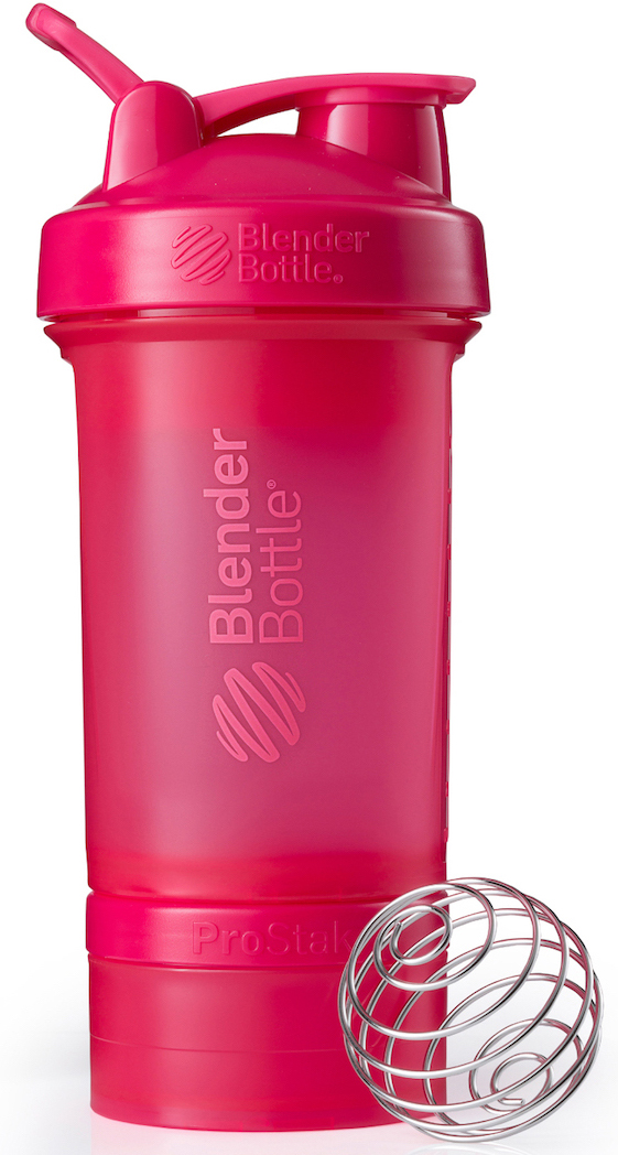 Шейкер спортивный BlenderBottle ProStak Full Color, с контейнером, цвет: розовый, фуксия, 650 млBB-PRSK-FPINBlenderBottle ProStak - это шейкер с уникальной на сегодняшний день системой хранения, адаптируемой к любимымвашим потребностям.- шейкер + гибкая система контейнеров Twist'nLock (100 мл, 150 мл, 250 мл*, контейнер для таблеток - в любыхколичествах и комбинациях**)- независимая система контейнеров- запатентованная петля для удобства транспортировки- лучшая технология смешивания благодаря шарику-венчику BlenderBall- 10 стильных расцветок.Качественные материалы не содержат бисфенол (BPA) и фталаты, благодаря чему шейкер абсолютно безопасен дляздоровья. Шейкер герметично закрывается и не допускает протекания при переноске в сумке. Шарик-венчик BlenderBallс легкостью смешивает даже самые плотные ингредиенты, а широкое горлышко делает питье комфортным. Гибкая система контейнеров позволяет использовать любые комбинации для получения необходимого объема, авозможность использовать контейнеры Expansion Pak как вместе, так и отдельно от шейкера позволит взять с собойвсе, что нужно даже при ограниченном объеме вашей сумки.Уникальная система Все-в-Одном!* Экстра-большой контейнер 250 мл докупается отдельно в составе набора контейнеров ProStak Expansion Pak** Благодаря системе Twist'n Lock вы можете собрать нужную вам комбинацию контейнеров. Любые размеры илюбое количество контейнеров. Соберите свой уникальный шейкер!Как повысить эффективность тренировок с помощью спортивного питания? Статья OZON Гид