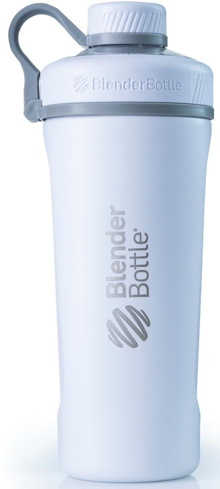 Шейкер спортивный BlenderBottle Radian Insulated Stainless, цвет: белый, 769 млBB-RAIS-MAWHТа самая бутылка-шейкер BlenderBottle Radian, с принципиально новым дизайном и с изолированным горлышком для питья, расположенным по центру - теперь в исполнении из нержавеющей стали!Radian Insulated Stainless Steel:Два слоя стали,вакуумная изоляция и потрясающий дизайн!Нержавеющая сталь 18/8. Цифра 18обозначает содержание хрома, онотвечает за нержавеющие свойства материала. Вторая цифра, 8, говорит о содержанииникеля, который придает изделию те самые зеркальность и блеск.Никаких пятен, ржавчины или коррозии!Как и все продукты BlenderBottle, не содержит бисфенол-А, бисфенол-С и фталаты.Абсолютно безопасен для вашего здоровья и здоровья ваших близких!- Сохраняет напитки холодными. Два слоянержавеющей стали ивакуумная изоляция позволяют сохранить ваши напитки холодными до 24 часов! Мы проверили, работает! Попробуйте вы!- Изолированноегорлышко для питья.Располагается по центру, надежно закрываетсякрышкой для постоянной защиты от внешних воздействий. Не испачкается в сумке!- Внушительный объем: 760 миллилитров! Хватит для всего!Спортивное питание, изотонические напитки или вода. Мерная шкала имеет деления деления до 530 мл.- 100% герметична.Не протекает.Полностьюгерметичная бутылка.Вне зависимости от того, что вы пьете: воду или сок,аминокислоты или изотоник - непрольется ни капли!Доступен для заказа в четырех цветах: стальной (natural), медный (copper), матовый черный (mate black) и матовый белый (mate white)!Отличный, нержавеющий, вариант для спортивногозала, тренировок на открытом воздухе и туристических походов. Идеален на каждый день!Radian Insulated Stainless SteelСвежесть, прохлада и бодрость на весь день!Как повысить эффективность тренировок с помощью спортивного питания? Статья OZON Гид