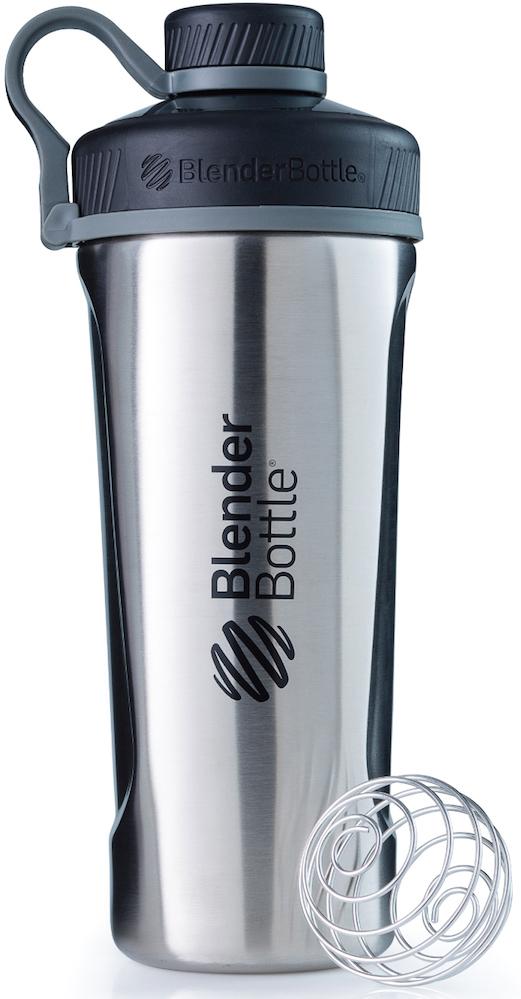 Шейкер спортивный BlenderBottle Radian Insulated Stainless, цвет: серый, 769 млBB-RAIS-NATUТа самая бутылка-шейкер BlenderBottle Radian, с принципиально новым дизайном и с изолированным горлышком для питья, расположенным по центру - теперь в исполнении из нержавеющей стали!Radian Insulated Stainless Steel:Два слоя стали,вакуумная изоляция и потрясающий дизайн!Нержавеющая сталь 18/8?Цифра 18обозначает содержание хрома, онотвечает за нержавеющие свойства материала. Вторая цифра, 8, говорит о содержанииникеля, который придает изделию те самые зеркальность и блеск.Никаких пятен, ржавчины или коррозии!??Как и ВСЕ продукты BlenderBottle, не содержит бисфенол-А, бисфенол-С и фталаты. Абсолютно безопасен для вашего здоровья и здоровья ваших близких!- Сохраняет напитки ХОЛОДНЫМИ?Два слоянержавеющей стали ивакуумная изоляция позволяют сохранить ваши напитки холодными до 24 часов! Мы проверили, работает! Попробуйте вы!- Изолированноегорлышко для питья. Располагается по центру, надежно закрываетсякрышкой для постоянной защиты от внешних воздействий. Не испачкается в сумке!- Внушительный объем: 760 миллилитров!?Хватит для всего!Спортивное питание, изотонические напитки или вода. Мерная шкала имеет деления деления до 530мл.- 100% герметична.Не протекает.Полностьюгерметичная бутылка.Вне зависимости от того, что вы пьете: воду или сок,аминокислоты или изотоник - непрольется ни капли!Доступен для заказа в четырех цветах: стальной (natural), медный (copper), матовый черный (mate black) и матовый белый (mate white)!Отличный, нержавеющий, вариант для спортивногозала, тренировок на открытом воздухе и туристических походов. Идеален на каждый день!Radian Insulated Stainless SteelСвежесть, прохлада и бодрость на весь день!