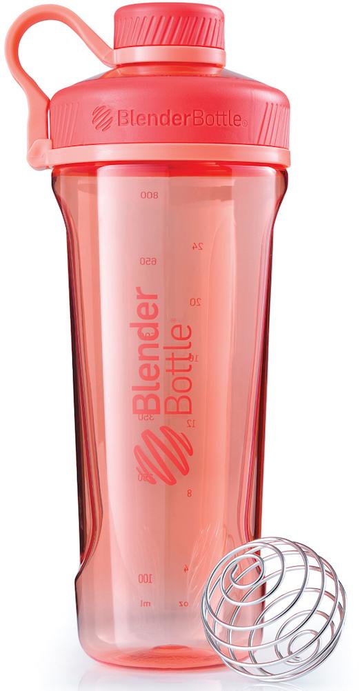 Шейкер спортивный BlenderBottle Radian Tritan Full Color, цвет: коралловый, 946 мл шейкер blenderbottle pro45 full color 1330ml grey crimson bb pr45 fcgp