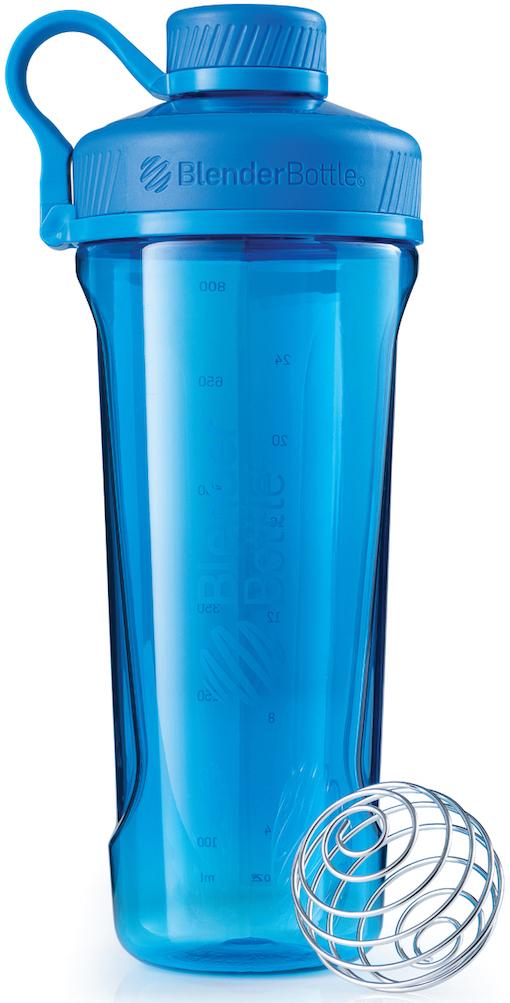 Шейкер спортивный BlenderBottle Radian Tritan Full Color, цвет: бирюзовый, 946 млBB-RT-CYANНовая модель бутылки для воды от BlenderBottle!Потрясающий дизайн, неизменно качественные и безопасные материалы и самые актуальные расцветки. BlenderBottle представляет: Radian!Бутылка для воды, которую Вы уже искали.- Качественный пластик Eastman Tritan?Прочный пластик с закрытыми порами, не задерживает запахи и не пачкается. Можно мыть в посудомоечной машине. ? - Изолированное горлышко для питьяРасполагается по центру, надежно закрывается крышкой для постоянной защиты от внешних воздействий. Не испачкается в сумке! - Уверенный объем: 946 миллилитров!?Практически ЛИТРОВАЯ бутылка для воды и других напитков. Удобно взять с собой на целый день!- 100% герметична. Не протекает.Полностью герметичная бутылка. Вне зависимости от того, что вы пьете: воду или сок, аминокислоты или изотоник - не прольется ни капли! - Безопасна для вашего здоровьяЕдинственный пластик, из которого можно делать бутылки. Не содержит бисфенол (BPA, BPS и другие) и фталаты: абсолютно безопасен для вашего здоровья и здоровья ваших детей.Принципиально новый эргономичный дизайн, созданный для того, чтобы вашему клиенту было удобно. Удобно пить воду и другие напитки, удобно брать с собой и удобно достать из сумки в любой компании.Бутылка для воды? BlenderBottle Radian.