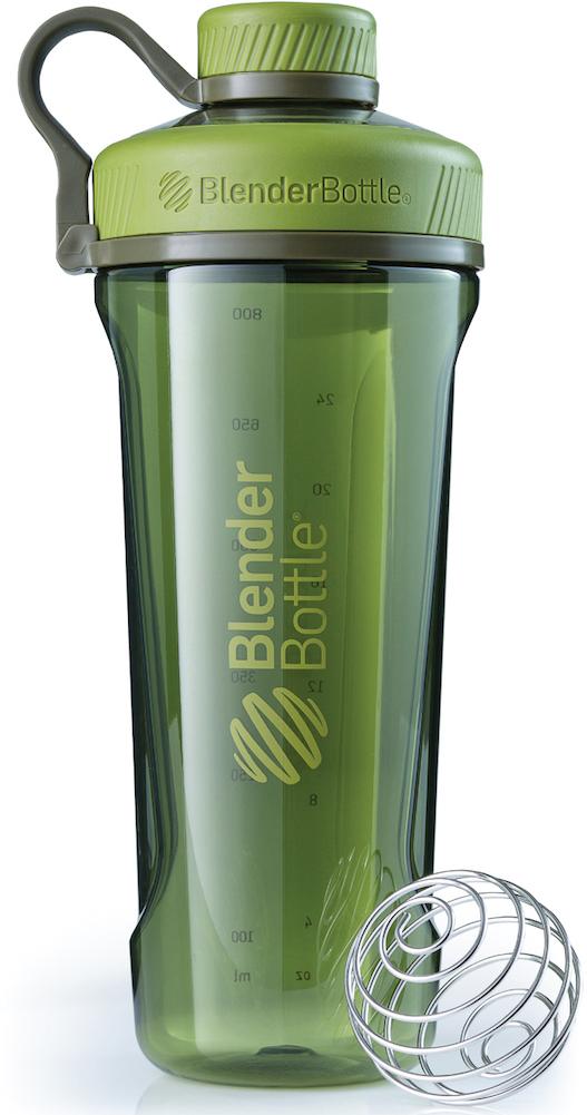 Шейкер спортивный BlenderBottle Radian Tritan Full Color, цвет: оливковый, 946 млBB-RT-MGREНовая модель бутылки для воды от BlenderBottle!Потрясающий дизайн, неизменно качественные и безопасные материалы и самые актуальные расцветки.BlenderBottle представляет: Radian!Бутылка для воды, которую вы уже искали.- Качественный пластик Eastman Tritan - прочный пластик с закрытыми порами, не задерживает запахи и не пачкается. Можно мыть в посудомоечной машине. - Изолированное горлышко для питья.Располагается по центру, надежно закрывается крышкой для постоянной защиты от внешних воздействий. Не испачкается в сумке!- Уверенный объем: 946 миллилитров! Практически литровая бутылка для воды и других напитков. Удобно взять с собой на целый день!- 100% герметична. Не протекает.Полностью герметичная бутылка. Вне зависимости от того, что вы пьете: воду или сок, аминокислоты или изотоник - не прольется ни капли! - Безопасна для вашего здоровья.Единственный пластик, из которого можно делать бутылки. Не содержит бисфенол (BPA, BPS и другие) и фталаты: абсолютно безопасен для вашего здоровья и здоровья ваших детей.Принципиально новый эргономичный дизайн, созданный для того, чтобы вашему клиенту было удобно. Удобно пить воду и другие напитки, удобно брать с собой и удобно достать из сумки в любой компании.Бутылка для воды? BlenderBottle Radian.