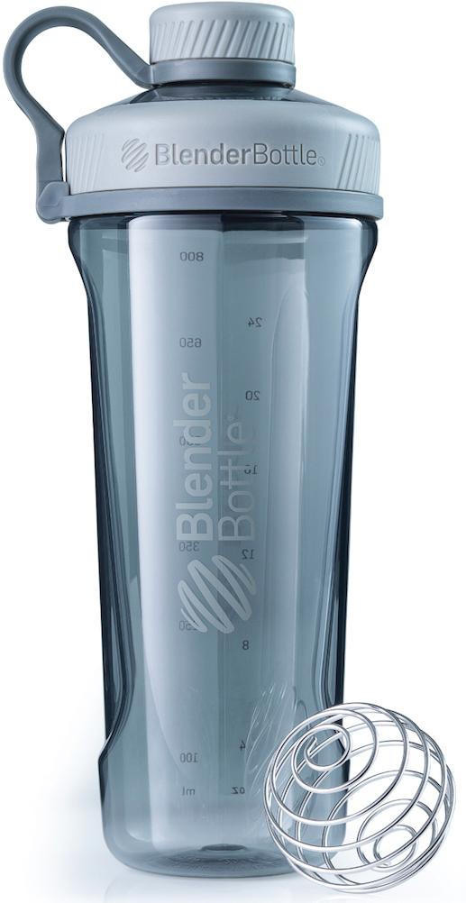 Шейкер спортивный BlenderBottle Radian Tritan Full Color, цвет: серый, 946 млBB-RT-PGREНовая модель бутылки для воды от BlenderBottle! Потрясающий дизайн, неизменно качественные и безопасные материалы и самые актуальные расцветки.BlenderBottle представляет: Radian! Бутылка для воды, которую вы уже искали. - Качественный пластик Eastman Tritan - прочный пластик с закрытыми порами, не задерживает запахи и не пачкается. Можно мыть в посудомоечной машине.- Изолированное горлышко для питья. Располагается по центру, надежно закрывается крышкой для постоянной защиты от внешних воздействий. Не испачкается в сумке! - Уверенный объем: 946 миллилитров! Практически литровая бутылка для воды и других напитков. Удобно взять с собой на целый день! - 100% герметична. Не протекает. Полностью герметичная бутылка. Вне зависимости от того, что вы пьете: воду или сок, аминокислоты или изотоник - не прольется ни капли!- Безопасна для вашего здоровья. Единственный пластик, из которого можно делать бутылки. Не содержит бисфенол (BPA, BPS и другие) и фталаты: абсолютно безопасен для вашего здоровья и здоровья ваших детей. Принципиально новый эргономичный дизайн, созданный для того, чтобы вашему клиенту было удобно. Удобно пить воду и другие напитки, удобно брать с собой и удобно достать из сумки в любой компании. Бутылка для воды? BlenderBottle Radian.Как повысить эффективность тренировок с помощью спортивного питания? Статья OZON Гид