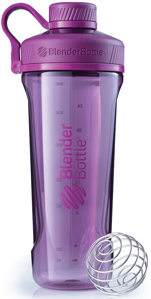 Шейкер спортивный BlenderBottle Radian Tritan Full Color, цвет: фиолетовый, 946 млBB-RT-PLUMНовая модель бутылки для воды от BlenderBottle!Потрясающий дизайн, неизменно качественные и безопасные материалы и самые актуальные расцветки.BlenderBottle представляет: Radian!Бутылка для воды, которую вы уже искали.- Качественный пластик Eastman Tritan - прочный пластик с закрытыми порами, не задерживает запахи и не пачкается. Можно мыть в посудомоечной машине. - Изолированное горлышко для питья.Располагается по центру, надежно закрывается крышкой для постоянной защиты от внешних воздействий. Не испачкается в сумке!- Уверенный объем: 946 миллилитров! Практически литровая бутылка для воды и других напитков. Удобно взять с собой на целый день!- 100% герметична. Не протекает.Полностью герметичная бутылка. Вне зависимости от того, что вы пьете: воду или сок, аминокислоты или изотоник - не прольется ни капли! - Безопасна для вашего здоровья.Единственный пластик, из которого можно делать бутылки. Не содержит бисфенол (BPA, BPS и другие) и фталаты: абсолютно безопасен для вашего здоровья и здоровья ваших детей.Принципиально новый эргономичный дизайн, созданный для того, чтобы вашему клиенту было удобно. Удобно пить воду и другие напитки, удобно брать с собой и удобно достать из сумки в любой компании.Бутылка для воды? BlenderBottle Radian.