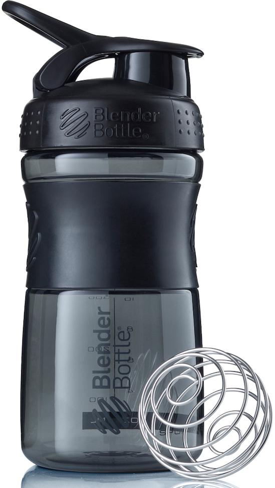 Шейкер спортивный BlenderBottle SportMixer, цвет: черный, 591 млBB-SM20-BBLKСтиль, инновации и универсальность в равной мере. BlenderBottle SportMixer принял вызов Вашей активной, деловой и спортивной жизни. Новое понимание, что значит быть современной «бутылкой для воды»Идеален для:- Воды- Смешивания любых напитков- Электролитов- Энергетических напитков- Заменителей пищи- Пищевых добавок- Протеиновые смеси- Смузи и шейки- Смеси с клетчаткой и многое другоеПрочный. Не впитывает запахи. Безопасный.SportMixer остается прочным и прозрачным в течение всего срока эксплуатации. Он изготовлен из безопасного пластика с закрытыми порами, Eastman Tritan, который не содержит бисфенолы (BPA, BPS и другие) и фталаты. Материал не выделяет вредных веществ и не впитывает запахи, а значит вы сможете в полной мере насладиться вкусом вашего напитка не переживая за свое здоровье и здоровье ваших близких!Закройте, подвесьте на сумке и носите с собой.Удобное кольцо на крышке позволяет легко крепить SportMixer к сумке или рюкзаку и взять его собой в тренажерный зал или в офис. Кольцо SportLoop разработано таким образом, что при любом весе бутылки и нагрузке крышка останется закрытой.Не выскользнет из рук.Ребра на крышке и объемное изображение на резиновом SportGrip обеспечивает крепкое сцепление даже со влажной ладонью, трясете ли вы питательный или протеиновый коктейль, или держите его в руке во время утренней пробежки.СмешивайЧто-то больше, чем просто вода? Запатентованный шарик-венчик BlenderBall смешивает энергетические напитки и электролиты, протеиновые коктейли и многое другое, легко! Шарик BlenderBall разворачивается внутри бутылки, смешивая Ваши напитки до однородной консистенции, каждый раз, сотни раз. Изготовлен из 316-хирургической нержавеющей стали, что позволяет не вынимать BlenderBall из бутылки с Вашим напитком: он не ржавеет и не подтвержден коррозии.
