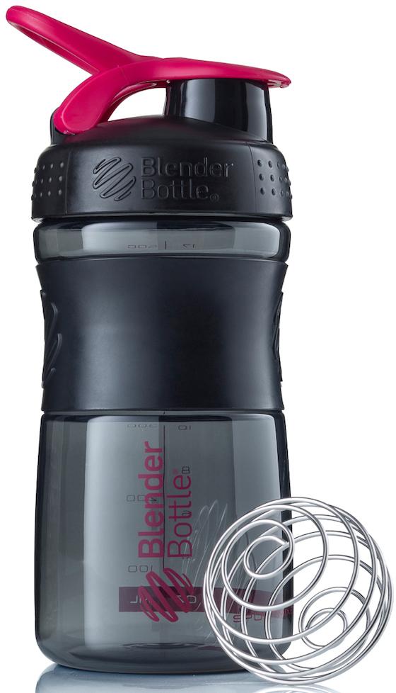 Шейкер спортивный BlenderBottle SportMixer, цвет: черный, розовый, фуксия, 591 млBB-SM20-BPINСтиль, инновации и универсальность в равной мере. BlenderBottle SportMixer принял вызов вашей активной, деловой и спортивной жизни. Новое понимание, что значит быть современной бутылкой для воды.Идеален для:- Воды- Смешивания любых напитков- Электролитов- Энергетических напитков- Заменителей пищи- Пищевых добавок- Протеиновые смеси- Смузи и шейки- Смеси с клетчаткой и многое другое.Прочный. Не впитывает запахи. Безопасный.SportMixer остается прочным и прозрачным в течение всего срока эксплуатации. Он изготовлен из безопасного пластика с закрытыми порами, Eastman Tritan, который не содержит бисфенолы (BPA, BPS и другие) и фталаты. Материал не выделяет вредных веществ и не впитывает запахи, а значит вы сможете в полной мере насладиться вкусом вашего напитка не переживая за свое здоровье и здоровье ваших близких!Закройте, подвесьте на сумке и носите с собой.Удобное кольцо на крышке позволяет легко крепить SportMixer к сумке или рюкзаку и взять его собой в тренажерный зал или в офис. Кольцо SportLoop разработано таким образом, что при любом весе бутылки и нагрузке крышка останется закрытой.Не выскользнет из рук.Ребра на крышке и объемное изображение на резиновом SportGrip обеспечивает крепкое сцепление даже со влажной ладонью, трясете ли вы питательный или протеиновый коктейль, или держите его в руке во время утренней пробежки.Смешивай!Что-то больше, чем просто вода? Запатентованный шарик-венчик BlenderBall смешивает энергетические напитки и электролиты, протеиновые коктейли и многое другое, легко! Шарик BlenderBall разворачивается внутри бутылки, смешивая ваши напитки до однородной консистенции, каждый раз, сотни раз. Изготовлен из 316-хирургической нержавеющей стали, что позволяет не вынимать BlenderBall из бутылки с вашим напитком: он не ржавеет и не подтвержден коррозии.Как повысить эффективность тренировок с помощью спортивного питания? Статья OZON Гид