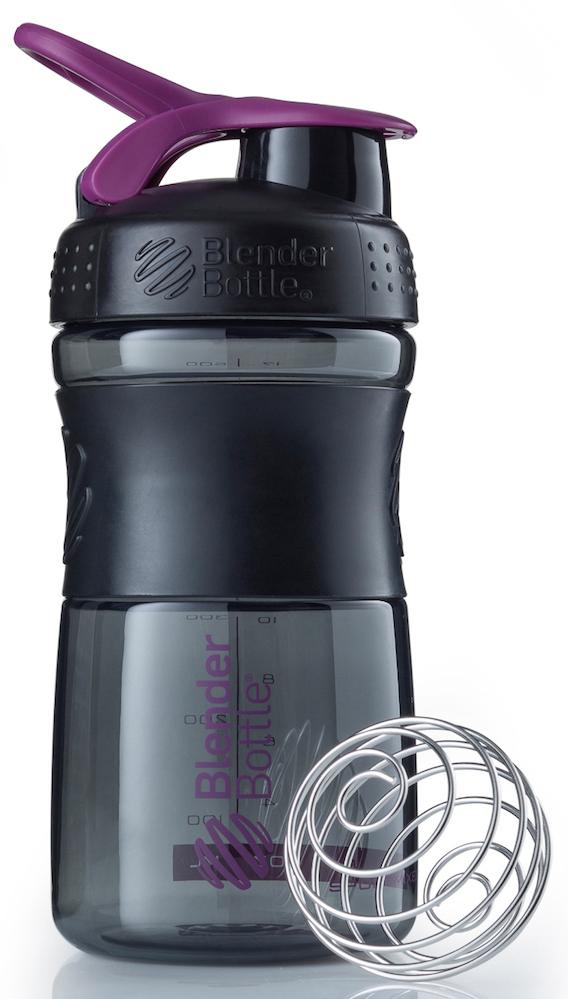 Шейкер спортивный BlenderBottle SportMixer, цвет: черный, фиолетовый, 591 млBB-SM20-BPLUСтиль, инновации и универсальность в равной мере. BlenderBottle SportMixer принял вызов вашей активной, деловой и спортивной жизни. Новое понимание, что значит быть современной бутылкой для воды.Идеален для:- Воды- Смешивания любых напитков- Электролитов- Энергетических напитков- Заменителей пищи- Пищевых добавок- Протеиновые смеси- Смузи и шейки- Смеси с клетчаткой и многое другое.Прочный. Не впитывает запахи. Безопасный.SportMixer остается прочным и прозрачным в течение всего срока эксплуатации. Он изготовлен из безопасного пластика с закрытыми порами, Eastman Tritan, который не содержит бисфенолы (BPA, BPS и другие) и фталаты. Материал не выделяет вредных веществ и не впитывает запахи, а значит вы сможете в полной мере насладиться вкусом вашего напитка не переживая за свое здоровье и здоровье ваших близких!Закройте, подвесьте на сумке и носите с собой.Удобное кольцо на крышке позволяет легко крепить SportMixer к сумке или рюкзаку и взять его собой в тренажерный зал или в офис. Кольцо SportLoop разработано таким образом, что при любом весе бутылки и нагрузке крышка останется закрытой.Не выскользнет из рук.Ребра на крышке и объемное изображение на резиновом SportGrip обеспечивает крепкое сцепление даже со влажной ладонью, трясете ли вы питательный или протеиновый коктейль, или держите его в руке во время утренней пробежки.Смешивай!Что-то больше, чем просто вода? Запатентованный шарик-венчик BlenderBall смешивает энергетические напитки и электролиты, протеиновые коктейли и многое другое, легко! Шарик BlenderBall разворачивается внутри бутылки, смешивая ваши напитки до однородной консистенции, каждый раз, сотни раз. Изготовлен из 316-хирургической нержавеющей стали, что позволяет не вынимать BlenderBall из бутылки с вашим напитком: он не ржавеет и не подтвержден коррозии.Как повысить эффективность тренировок с помощью спортивного питания? Статья OZON Гид