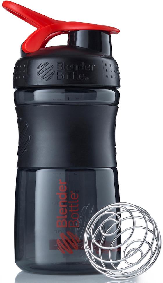 Шейкер спортивный BlenderBottle SportMixer, цвет: черный, красный, 591 млBB-SM20-BREDСтиль, инновации и универсальность в равной мере. BlenderBottle SportMixer принял вызов Вашей активной, деловой и спортивной жизни. Новое понимание, что значит быть современной «бутылкой для воды»Идеален для:- Воды- Смешивания любых напитков- Электролитов- Энергетических напитков- Заменителей пищи- Пищевых добавок- Протеиновые смеси- Смузи и шейки- Смеси с клетчаткой и многое другоеПрочный. Не впитывает запахи. Безопасный.SportMixer остается прочным и прозрачным в течение всего срока эксплуатации. Он изготовлен из безопасного пластика с закрытыми порами, Eastman Tritan, который не содержит бисфенолы (BPA, BPS и другие) и фталаты. Материал не выделяет вредных веществ и не впитывает запахи, а значит вы сможете в полной мере насладиться вкусом вашего напитка не переживая за свое здоровье и здоровье ваших близких!Закройте, подвесьте на сумке и носите с собой.Удобное кольцо на крышке позволяет легко крепить SportMixer к сумке или рюкзаку и взять его собой в тренажерный зал или в офис. Кольцо SportLoop разработано таким образом, что при любом весе бутылки и нагрузке крышка останется закрытой.Не выскользнет из рук.Ребра на крышке и объемное изображение на резиновом SportGrip обеспечивает крепкое сцепление даже со влажной ладонью, трясете ли вы питательный или протеиновый коктейль, или держите его в руке во время утренней пробежки.СмешивайЧто-то больше, чем просто вода? Запатентованный шарик-венчик BlenderBall смешивает энергетические напитки и электролиты, протеиновые коктейли и многое другое, легко! Шарик BlenderBall разворачивается внутри бутылки, смешивая Ваши напитки до однородной консистенции, каждый раз, сотни раз. Изготовлен из 316-хирургической нержавеющей стали, что позволяет не вынимать BlenderBall из бутылки с Вашим напитком: он не ржавеет и не подтвержден коррозии.