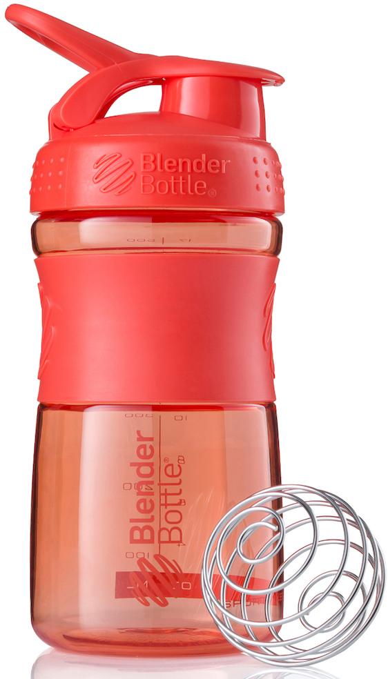 Шейкер спортивный BlenderBottle SportMixer, цвет: коралловый, 591 млBB-SM20-CORAСтиль, инновации и универсальность в равной мере. BlenderBottle SportMixer принял вызов Вашей активной, деловой и спортивной жизни. Новое понимание, что значит быть современной «бутылкой для воды»Идеален для:- Воды- Смешивания любых напитков- Электролитов- Энергетических напитков- Заменителей пищи- Пищевых добавок- Протеиновые смеси- Смузи и шейки- Смеси с клетчаткой и многое другоеПрочный. Не впитывает запахи. Безопасный.SportMixer остается прочным и прозрачным в течение всего срока эксплуатации. Он изготовлен из безопасного пластика с закрытыми порами, Eastman Tritan, который не содержит бисфенолы (BPA, BPS и другие) и фталаты. Материал не выделяет вредных веществ и не впитывает запахи, а значит вы сможете в полной мере насладиться вкусом вашего напитка не переживая за свое здоровье и здоровье ваших близких!Закройте, подвесьте на сумке и носите с собой.Удобное кольцо на крышке позволяет легко крепить SportMixer к сумке или рюкзаку и взять его собой в тренажерный зал или в офис. Кольцо SportLoop разработано таким образом, что при любом весе бутылки и нагрузке крышка останется закрытой.Не выскользнет из рук.Ребра на крышке и объемное изображение на резиновом SportGrip обеспечивает крепкое сцепление даже со влажной ладонью, трясете ли вы питательный или протеиновый коктейль, или держите его в руке во время утренней пробежки.СмешивайЧто-то больше, чем просто вода? Запатентованный шарик-венчик BlenderBall смешивает энергетические напитки и электролиты, протеиновые коктейли и многое другое, легко! Шарик BlenderBall разворачивается внутри бутылки, смешивая Ваши напитки до однородной консистенции, каждый раз, сотни раз. Изготовлен из 316-хирургической нержавеющей стали, что позволяет не вынимать BlenderBall из бутылки с Вашим напитком: он не ржавеет и не подтвержден коррозии.