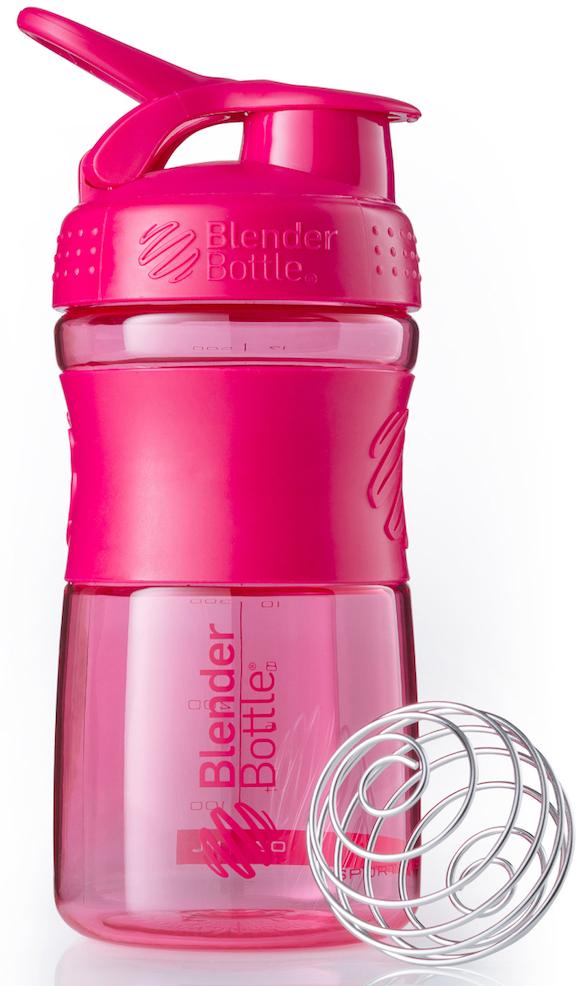 Шейкер спортивный BlenderBottle SportMixer, цвет: розовый, фуксия, 591 млBB-SM20-CPINСтиль, инновации и универсальность в равной мере. BlenderBottle SportMixer принял вызов Вашей активной, деловой и спортивной жизни. Новое понимание, что значит быть современной «бутылкой для воды»Идеален для:- Воды- Смешивания любых напитков- Электролитов- Энергетических напитков- Заменителей пищи- Пищевых добавок- Протеиновые смеси- Смузи и шейки- Смеси с клетчаткой и многое другоеПрочный. Не впитывает запахи. Безопасный.SportMixer остается прочным и прозрачным в течение всего срока эксплуатации. Он изготовлен из безопасного пластика с закрытыми порами, Eastman Tritan, который не содержит бисфенолы (BPA, BPS и другие) и фталаты. Материал не выделяет вредных веществ и не впитывает запахи, а значит вы сможете в полной мере насладиться вкусом вашего напитка не переживая за свое здоровье и здоровье ваших близких!Закройте, подвесьте на сумке и носите с собой.Удобное кольцо на крышке позволяет легко крепить SportMixer к сумке или рюкзаку и взять его собой в тренажерный зал или в офис. Кольцо SportLoop разработано таким образом, что при любом весе бутылки и нагрузке крышка останется закрытой.Не выскользнет из рук.Ребра на крышке и объемное изображение на резиновом SportGrip обеспечивает крепкое сцепление даже со влажной ладонью, трясете ли вы питательный или протеиновый коктейль, или держите его в руке во время утренней пробежки.СмешивайЧто-то больше, чем просто вода? Запатентованный шарик-венчик BlenderBall смешивает энергетические напитки и электролиты, протеиновые коктейли и многое другое, легко! Шарик BlenderBall разворачивается внутри бутылки, смешивая Ваши напитки до однородной консистенции, каждый раз, сотни раз. Изготовлен из 316-хирургической нержавеющей стали, что позволяет не вынимать BlenderBall из бутылки с Вашим напитком: он не ржавеет и не подтвержден коррозии.