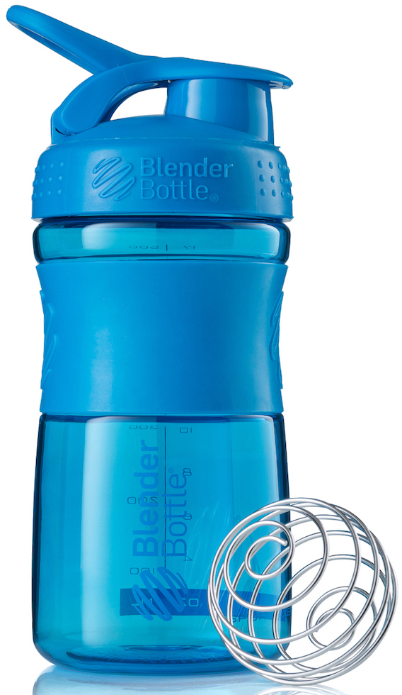 Шейкер спортивный BlenderBottle SportMixer, цвет: бирюзовый, 591 млBB-SM20-CYANСтиль, инновации и универсальность в равной мере. BlenderBottle SportMixer принял вызов Вашей активной, деловой и спортивной жизни. Новое понимание, что значит быть современной «бутылкой для воды»Идеален для:- Воды- Смешивания любых напитков- Электролитов- Энергетических напитков- Заменителей пищи- Пищевых добавок- Протеиновые смеси- Смузи и шейки- Смеси с клетчаткой и многое другоеПрочный. Не впитывает запахи. Безопасный.SportMixer остается прочным и прозрачным в течение всего срока эксплуатации. Он изготовлен из безопасного пластика с закрытыми порами, Eastman Tritan, который не содержит бисфенолы (BPA, BPS и другие) и фталаты. Материал не выделяет вредных веществ и не впитывает запахи, а значит вы сможете в полной мере насладиться вкусом вашего напитка не переживая за свое здоровье и здоровье ваших близких!Закройте, подвесьте на сумке и носите с собой.Удобное кольцо на крышке позволяет легко крепить SportMixer к сумке или рюкзаку и взять его собой в тренажерный зал или в офис. Кольцо SportLoop разработано таким образом, что при любом весе бутылки и нагрузке крышка останется закрытой.Не выскользнет из рук.Ребра на крышке и объемное изображение на резиновом SportGrip обеспечивает крепкое сцепление даже со влажной ладонью, трясете ли вы питательный или протеиновый коктейль, или держите его в руке во время утренней пробежки.СмешивайЧто-то больше, чем просто вода? Запатентованный шарик-венчик BlenderBall смешивает энергетические напитки и электролиты, протеиновые коктейли и многое другое, легко! Шарик BlenderBall разворачивается внутри бутылки, смешивая Ваши напитки до однородной консистенции, каждый раз, сотни раз. Изготовлен из 316-хирургической нержавеющей стали, что позволяет не вынимать BlenderBall из бутылки с Вашим напитком: он не ржавеет и не подтвержден коррозии.
