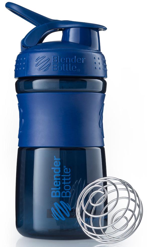 Шейкер спортивный BlenderBottle SportMixer, цвет: темно-синий, 591 млBB-SM20-NAVYСтиль, инновации и универсальность в равной мере. BlenderBottle SportMixer принял вызов вашей активной, деловой и спортивной жизни. Новое понимание, что значит быть современной бутылкой для воды. Идеален для: - Воды - Смешивания любых напитков - Электролитов - Энергетических напитков - Заменителей пищи - Пищевых добавок - Протеиновые смеси - Смузи и шейки - Смеси с клетчаткой и многое другое.Прочный. Не впитывает запахи. Безопасный. SportMixer остается прочным и прозрачным в течение всего срока эксплуатации. Он изготовлен из безопасного пластика с закрытыми порами, Eastman Tritan, который не содержит бисфенолы (BPA, BPS и другие) и фталаты. Материал не выделяет вредных веществ и не впитывает запахи, а значит вы сможете в полной мере насладиться вкусом вашего напитка не переживая за свое здоровье и здоровье ваших близких!Закройте, подвесьте на сумке и носите с собой. Удобное кольцо на крышке позволяет легко крепить SportMixer к сумке или рюкзаку и взять его собой в тренажерный зал или в офис. Кольцо SportLoop разработано таким образом, что при любом весе бутылки и нагрузке крышка останется закрытой.Не выскользнет из рук. Ребра на крышке и объемное изображение на резиновом SportGrip обеспечивает крепкое сцепление даже со влажной ладонью, трясете ли вы питательный или протеиновый коктейль, или держите его в руке во время утренней пробежки.Смешивай! Что-то больше, чем просто вода? Запатентованный шарик-венчик BlenderBall смешивает энергетические напитки и электролиты, протеиновые коктейли и многое другое, легко! Шарик BlenderBall разворачивается внутри бутылки, смешивая ваши напитки до однородной консистенции, каждый раз, сотни раз. Изготовлен из 316-хирургической нержавеющей стали, что позволяет не вынимать BlenderBall из бутылки с вашим напитком: он не ржавеет и не подтвержден коррозии.Как повысить эффективность тренировок с помощью спортивного питания? Статья OZON Гид