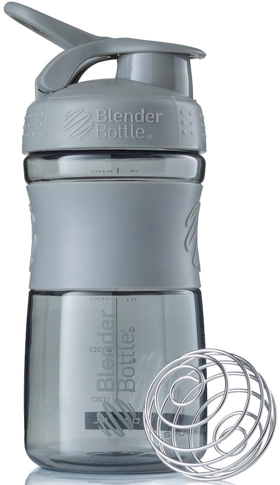 Шейкер спортивный BlenderBottle SportMixer, цвет: серый, 591 млBB-SM20-PGREСтиль, инновации и универсальность в равной мере. BlenderBottle SportMixer принял вызов вашей активной, деловой и спортивной жизни. Новое понимание, что значит быть современной бутылкой для воды. Идеален для: - Воды - Смешивания любых напитков - Электролитов - Энергетических напитков - Заменителей пищи - Пищевых добавок - Протеиновые смеси - Смузи и шейки - Смеси с клетчаткой и многое другое.Прочный. Не впитывает запахи. Безопасный. SportMixer остается прочным и прозрачным в течение всего срока эксплуатации. Он изготовлен из безопасного пластика с закрытыми порами, Eastman Tritan, который не содержит бисфенолы (BPA, BPS и другие) и фталаты. Материал не выделяет вредных веществ и не впитывает запахи, а значит вы сможете в полной мере насладиться вкусом вашего напитка не переживая за свое здоровье и здоровье ваших близких!Закройте, подвесьте на сумке и носите с собой. Удобное кольцо на крышке позволяет легко крепить SportMixer к сумке или рюкзаку и взять его собой в тренажерный зал или в офис. Кольцо SportLoop разработано таким образом, что при любом весе бутылки и нагрузке крышка останется закрытой.Не выскользнет из рук. Ребра на крышке и объемное изображение на резиновом SportGrip обеспечивает крепкое сцепление даже со влажной ладонью, трясете ли вы питательный или протеиновый коктейль, или держите его в руке во время утренней пробежки.Смешивай! Что-то больше, чем просто вода? Запатентованный шарик-венчик BlenderBall смешивает энергетические напитки и электролиты, протеиновые коктейли и многое другое, легко! Шарик BlenderBall разворачивается внутри бутылки, смешивая ваши напитки до однородной консистенции, каждый раз, сотни раз. Изготовлен из 316-хирургической нержавеющей стали, что позволяет не вынимать BlenderBall из бутылки с вашим напитком: он не ржавеет и не подтвержден коррозии.Как повысить эффективность тренировок с помощью спортивного питания? Статья OZON Гид
