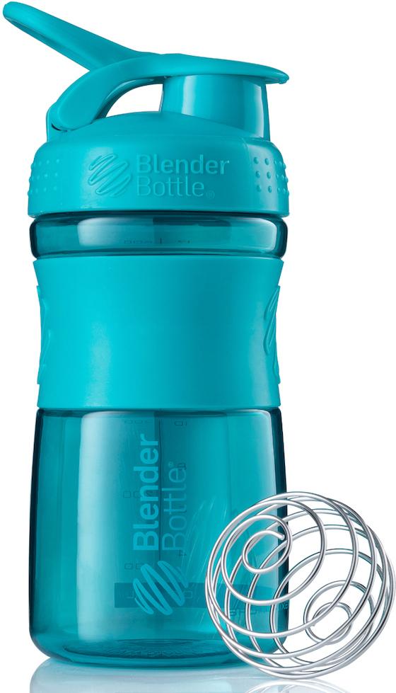 Шейкер спортивный BlenderBottle SportMixer, цвет: голубой, 591 млBB-SM20-TEALСтиль, инновации и универсальность в равной мере. BlenderBottle SportMixer принял вызов Вашей активной, деловой и спортивной жизни. Новое понимание, что значит быть современной «бутылкой для воды»Идеален для:- Воды- Смешивания любых напитков- Электролитов- Энергетических напитков- Заменителей пищи- Пищевых добавок- Протеиновые смеси- Смузи и шейки- Смеси с клетчаткой и многое другоеПрочный. Не впитывает запахи. Безопасный.SportMixer остается прочным и прозрачным в течение всего срока эксплуатации. Он изготовлен из безопасного пластика с закрытыми порами, Eastman Tritan, который не содержит бисфенолы (BPA, BPS и другие) и фталаты. Материал не выделяет вредных веществ и не впитывает запахи, а значит вы сможете в полной мере насладиться вкусом вашего напитка не переживая за свое здоровье и здоровье ваших близких!Закройте, подвесьте на сумке и носите с собой.Удобное кольцо на крышке позволяет легко крепить SportMixer к сумке или рюкзаку и взять его собой в тренажерный зал или в офис. Кольцо SportLoop разработано таким образом, что при любом весе бутылки и нагрузке крышка останется закрытой.Не выскользнет из рук.Ребра на крышке и объемное изображение на резиновом SportGrip обеспечивает крепкое сцепление даже со влажной ладонью, трясете ли вы питательный или протеиновый коктейль, или держите его в руке во время утренней пробежки.СмешивайЧто-то больше, чем просто вода? Запатентованный шарик-венчик BlenderBall смешивает энергетические напитки и электролиты, протеиновые коктейли и многое другое, легко! Шарик BlenderBall разворачивается внутри бутылки, смешивая Ваши напитки до однородной консистенции, каждый раз, сотни раз. Изготовлен из 316-хирургической нержавеющей стали, что позволяет не вынимать BlenderBall из бутылки с Вашим напитком: он не ржавеет и не подтвержден коррозии.