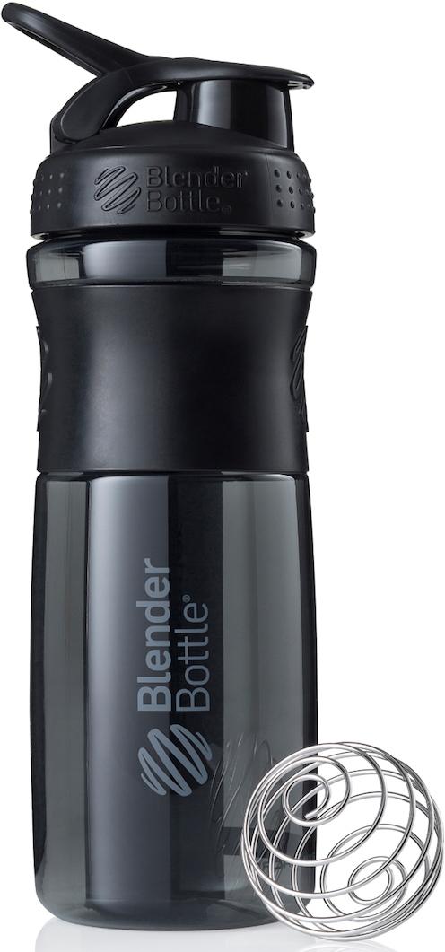 Шейкер спортивный BlenderBottle SportMixer, цвет: черный, 828 млBB-SM28-BBLKСтиль, инновации и универсальность в равной мере. BlenderBottle SportMixer принял вызов вашей активной, деловой и спортивной жизни. Новое понимание, что значит быть современной бутылкой для воды.Идеален для:- Воды- Смешивания любых напитков- Электролитов- Энергетических напитков- Заменителей пищи- Пищевых добавок- Протеиновые смеси- Смузи и шейки- Смеси с клетчаткой и многое другое.Прочный. Не впитывает запахи. Безопасный.SportMixer остается прочным и прозрачным в течение всего срока эксплуатации. Он изготовлен из безопасного пластика с закрытыми порами, Eastman Tritan, который не содержит бисфенолы (BPA, BPS и другие) и фталаты. Материал не выделяет вредных веществ и не впитывает запахи, а значит вы сможете в полной мере насладиться вкусом вашего напитка не переживая за свое здоровье и здоровье ваших близких!Закройте, подвесьте на сумке и носите с собой.Удобное кольцо на крышке позволяет легко крепить SportMixer к сумке или рюкзаку и взять его собой в тренажерный зал или в офис. Кольцо SportLoop разработано таким образом, что при любом весе бутылки и нагрузке крышка останется закрытой.Не выскользнет из рук.Ребра на крышке и объемное изображение на резиновом SportGrip обеспечивает крепкое сцепление даже со влажной ладонью, трясете ли вы питательный или протеиновый коктейль, или держите его в руке во время утренней пробежки.Смешивай!Что-то больше, чем просто вода? Запатентованный шарик-венчик BlenderBall смешивает энергетические напитки и электролиты, протеиновые коктейли и многое другое, легко! Шарик BlenderBall разворачивается внутри бутылки, смешивая ваши напитки до однородной консистенции, каждый раз, сотни раз. Изготовлен из 316-хирургической нержавеющей стали, что позволяет не вынимать BlenderBall из бутылки с вашим напитком: он не ржавеет и не подтвержден коррозии.Как повысить эффективность тренировок с помощью спортивного питания? Статья OZON Гид