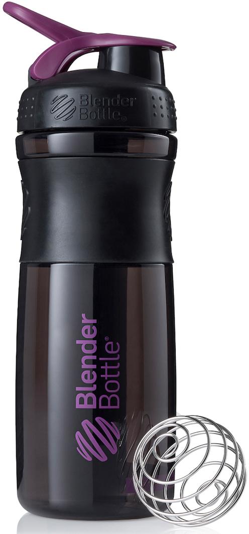 Шейкер спортивный BlenderBottle SportMixer, цвет: черный, фиолетовый, 828 млBB-SM28-BPLUСтиль, инновации и универсальность в равной мере. BlenderBottle SportMixer принял вызов Вашей активной, деловой и спортивной жизни. Новое понимание, что значит быть современной «бутылкой для воды»Идеален для:- Воды- Смешивания любых напитков- Электролитов- Энергетических напитков- Заменителей пищи- Пищевых добавок- Протеиновые смеси- Смузи и шейки- Смеси с клетчаткой и многое другоеПрочный. Не впитывает запахи. Безопасный.SportMixer остается прочным и прозрачным в течение всего срока эксплуатации. Он изготовлен из безопасного пластика с закрытыми порами, Eastman Tritan, который не содержит бисфенолы (BPA, BPS и другие) и фталаты. Материал не выделяет вредных веществ и не впитывает запахи, а значит вы сможете в полной мере насладиться вкусом вашего напитка не переживая за свое здоровье и здоровье ваших близких!Закройте, подвесьте на сумке и носите с собой.Удобное кольцо на крышке позволяет легко крепить SportMixer к сумке или рюкзаку и взять его собой в тренажерный зал или в офис. Кольцо SportLoop разработано таким образом, что при любом весе бутылки и нагрузке крышка останется закрытой.Не выскользнет из рук.Ребра на крышке и объемное изображение на резиновом SportGrip обеспечивает крепкое сцепление даже со влажной ладонью, трясете ли вы питательный или протеиновый коктейль, или держите его в руке во время утренней пробежки.СмешивайЧто-то больше, чем просто вода? Запатентованный шарик-венчик BlenderBall смешивает энергетические напитки и электролиты, протеиновые коктейли и многое другое, легко! Шарик BlenderBall разворачивается внутри бутылки, смешивая Ваши напитки до однородной консистенции, каждый раз, сотни раз. Изготовлен из 316-хирургической нержавеющей стали, что позволяет не вынимать BlenderBall из бутылки с Вашим напитком: он не ржавеет и не подтвержден коррозии.