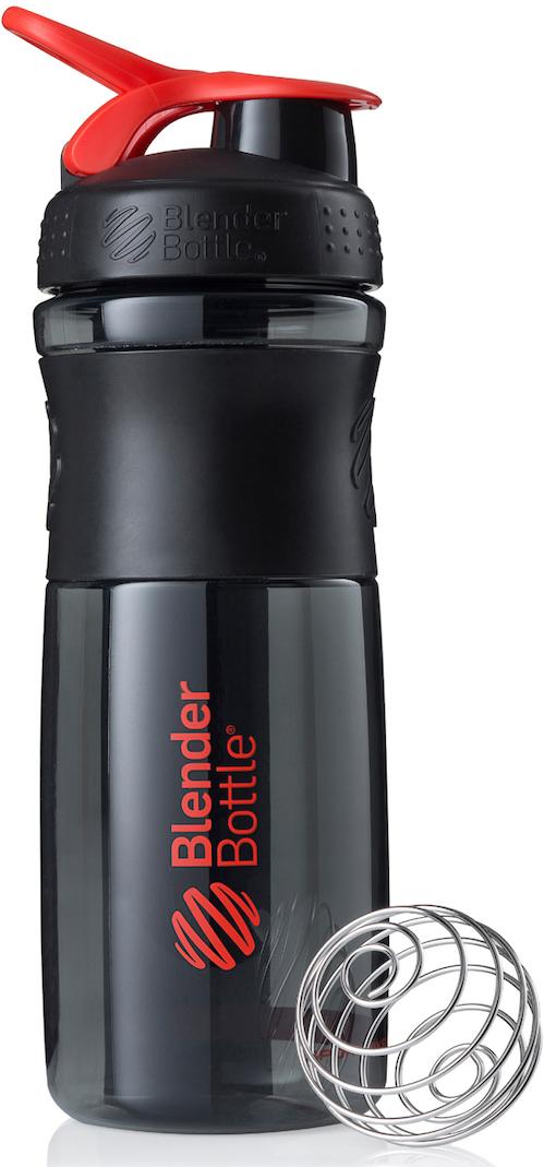 Шейкер спортивный BlenderBottle SportMixer, цвет: черный, красный, 828 млBB-SM28-BREDСтиль, инновации и универсальность в равной мере. BlenderBottle SportMixer принял вызов Вашей активной, деловой и спортивной жизни. Новое понимание, что значит быть современной «бутылкой для воды»Идеален для:- Воды- Смешивания любых напитков- Электролитов- Энергетических напитков- Заменителей пищи- Пищевых добавок- Протеиновые смеси- Смузи и шейки- Смеси с клетчаткой и многое другоеПрочный. Не впитывает запахи. Безопасный.SportMixer остается прочным и прозрачным в течение всего срока эксплуатации. Он изготовлен из безопасного пластика с закрытыми порами, Eastman Tritan, который не содержит бисфенолы (BPA, BPS и другие) и фталаты. Материал не выделяет вредных веществ и не впитывает запахи, а значит вы сможете в полной мере насладиться вкусом вашего напитка не переживая за свое здоровье и здоровье ваших близких!Закройте, подвесьте на сумке и носите с собой.Удобное кольцо на крышке позволяет легко крепить SportMixer к сумке или рюкзаку и взять его собой в тренажерный зал или в офис. Кольцо SportLoop разработано таким образом, что при любом весе бутылки и нагрузке крышка останется закрытой.Не выскользнет из рук.Ребра на крышке и объемное изображение на резиновом SportGrip обеспечивает крепкое сцепление даже со влажной ладонью, трясете ли вы питательный или протеиновый коктейль, или держите его в руке во время утренней пробежки.СмешивайЧто-то больше, чем просто вода? Запатентованный шарик-венчик BlenderBall смешивает энергетические напитки и электролиты, протеиновые коктейли и многое другое, легко! Шарик BlenderBall разворачивается внутри бутылки, смешивая Ваши напитки до однородной консистенции, каждый раз, сотни раз. Изготовлен из 316-хирургической нержавеющей стали, что позволяет не вынимать BlenderBall из бутылки с Вашим напитком: он не ржавеет и не подтвержден коррозии.