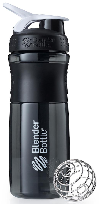 Шейкер спортивный BlenderBottle SportMixer, цвет: черный, белый, 828 млBB-SM28-BWHIСтиль, инновации и универсальность в равной мере. BlenderBottle SportMixer принял вызов вашей активной, деловой и спортивной жизни. Новое понимание, что значит быть современной бутылкой для воды. Идеален для: - Воды - Смешивания любых напитков - Электролитов - Энергетических напитков - Заменителей пищи - Пищевых добавок - Протеиновые смеси - Смузи и шейки - Смеси с клетчаткой и многое другое.Прочный. Не впитывает запахи. Безопасный. SportMixer остается прочным и прозрачным в течение всего срока эксплуатации. Он изготовлен из безопасного пластика с закрытыми порами, Eastman Tritan, который не содержит бисфенолы (BPA, BPS и другие) и фталаты. Материал не выделяет вредных веществ и не впитывает запахи, а значит вы сможете в полной мере насладиться вкусом вашего напитка не переживая за свое здоровье и здоровье ваших близких!Закройте, подвесьте на сумке и носите с собой. Удобное кольцо на крышке позволяет легко крепить SportMixer к сумке или рюкзаку и взять его собой в тренажерный зал или в офис. Кольцо SportLoop разработано таким образом, что при любом весе бутылки и нагрузке крышка останется закрытой.Не выскользнет из рук. Ребра на крышке и объемное изображение на резиновом SportGrip обеспечивает крепкое сцепление даже со влажной ладонью, трясете ли вы питательный или протеиновый коктейль, или держите его в руке во время утренней пробежки.Смешивай! Что-то больше, чем просто вода? Запатентованный шарик-венчик BlenderBall смешивает энергетические напитки и электролиты, протеиновые коктейли и многое другое, легко! Шарик BlenderBall разворачивается внутри бутылки, смешивая ваши напитки до однородной консистенции, каждый раз, сотни раз. Изготовлен из 316-хирургической нержавеющей стали, что позволяет не вынимать BlenderBall из бутылки с вашим напитком: он не ржавеет и не подтвержден коррозии.Как повысить эффективность тренировок с помощью спортивного питания? Статья OZON Гид