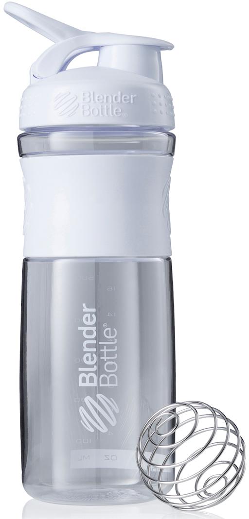 Шейкер спортивный BlenderBottle SportMixer, цвет: белый, прозрачный, 828 млBB-SM28-CWHIСтиль, инновации и универсальность в равной мере. BlenderBottle SportMixer принял вызов Вашей активной, деловой и спортивной жизни. Новое понимание, что значит быть современной бутылкой для воды. Идеален для: - Воды - Смешивания любых напитков - Электролитов - Энергетических напитков - Заменителей пищи - Пищевых добавок - Протеиновые смеси - Смузи и шейки - Смеси с клетчаткой и многое другое.Прочный. Не впитывает запахи. Безопасный. SportMixer остается прочным и прозрачным в течение всего срока эксплуатации. Он изготовлен из безопасного пластика с закрытыми порами, Eastman Tritan, который не содержит бисфенолы (BPA, BPS и другие) и фталаты. Материал не выделяет вредных веществ и не впитывает запахи, а значит вы сможете в полной мере насладиться вкусом вашего напитка не переживая за свое здоровье и здоровье ваших близких!Закройте, подвесьте на сумке и носите с собой. Удобное кольцо на крышке позволяет легко крепить SportMixer к сумке или рюкзаку и взять его собой в тренажерный зал или в офис. Кольцо SportLoop разработано таким образом, что при любом весе бутылки и нагрузке крышка останется закрытой.Не выскользнет из рук. Ребра на крышке и объемное изображение на резиновом SportGrip обеспечивает крепкое сцепление даже со влажной ладонью, трясете ли вы питательный или протеиновый коктейль, или держите его в руке во время утренней пробежки.Смешивай! Что-то больше, чем просто вода? Запатентованный шарик-венчик BlenderBall смешивает энергетические напитки и электролиты, протеиновые коктейли и многое другое, легко! Шарик BlenderBall разворачивается внутри бутылки, смешивая Ваши напитки до однородной консистенции, каждый раз, сотни раз. Изготовлен из 316-хирургической нержавеющей стали, что позволяет не вынимать BlenderBall из бутылки с Вашим напитком: он не ржавеет и не подтвержден коррозии.Как повысить эффективность тренировок с помощью спортивного питания? Статья OZON Гид