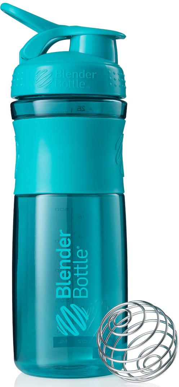 Шейкер спортивный BlenderBottle SportMixer, цвет: бирюзовый, 828 млBB-SM28-CYANСтиль, инновации и универсальность в равной мере. BlenderBottle SportMixer принял вызов Вашей активной, деловой и спортивной жизни. Новое понимание, что значит быть современной бутылкой для воды.Идеален для:- Воды- Смешивания любых напитков- Электролитов- Энергетических напитков- Заменителей пищи- Пищевых добавок- Протеиновые смеси- Смузи и шейки- Смеси с клетчаткой и многое другое.Прочный. Не впитывает запахи. Безопасный.SportMixer остается прочным и прозрачным в течение всего срока эксплуатации. Он изготовлен из безопасного пластика с закрытыми порами, Eastman Tritan, который не содержит бисфенолы (BPA, BPS и другие) и фталаты. Материал не выделяет вредных веществ и не впитывает запахи, а значит вы сможете в полной мере насладиться вкусом вашего напитка не переживая за свое здоровье и здоровье ваших близких!Закройте, подвесьте на сумке и носите с собой.Удобное кольцо на крышке позволяет легко крепить SportMixer к сумке или рюкзаку и взять его собой в тренажерный зал или в офис. Кольцо SportLoop разработано таким образом, что при любом весе бутылки и нагрузке крышка останется закрытой.Не выскользнет из рук.Ребра на крышке и объемное изображение на резиновом SportGrip обеспечивает крепкое сцепление даже со влажной ладонью, трясете ли вы питательный или протеиновый коктейль, или держите его в руке во время утренней пробежки.Смешивай!Что-то больше, чем просто вода? Запатентованный шарик-венчик BlenderBall смешивает энергетические напитки и электролиты, протеиновые коктейли и многое другое, легко! Шарик BlenderBall разворачивается внутри бутылки, смешивая Ваши напитки до однородной консистенции, каждый раз, сотни раз. Изготовлен из 316-хирургической нержавеющей стали, что позволяет не вынимать BlenderBall из бутылки с Вашим напитком: он не ржавеет и не подтвержден коррозии.