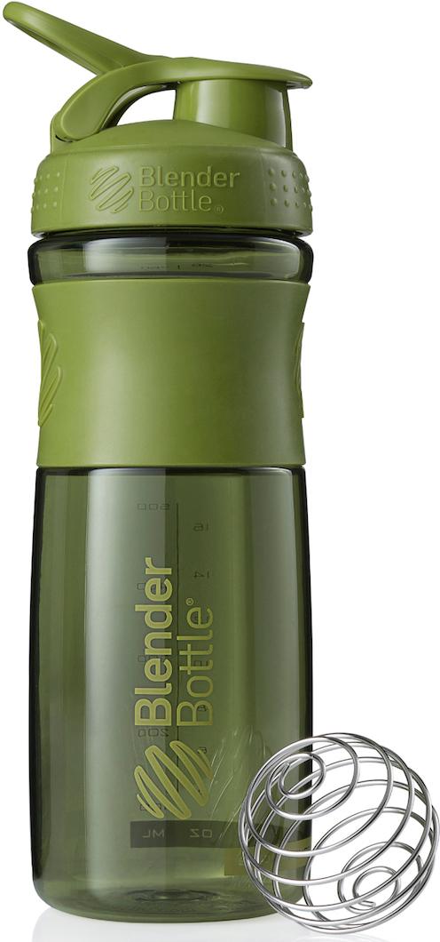 Шейкер спортивный BlenderBottle SportMixer, цвет: оливковый, 828 млBB-SM28-MGREСтиль, инновации и универсальность в равной мере. BlenderBottle SportMixer принял вызов вашей активной, деловой и спортивной жизни. Новое понимание, что значит быть современной бутылкой для водыИдеален для:- Воды- Смешивания любых напитков- Электролитов- Энергетических напитков- Заменителей пищи- Пищевых добавок- Протеиновые смеси- Смузи и шейки- Смеси с клетчаткой и многое другое.Прочный. Не впитывает запахи. Безопасный.SportMixer остается прочным и прозрачным в течение всего срока эксплуатации. Он изготовлен из безопасного пластика с закрытыми порами, Eastman Tritan, который не содержит бисфенолы (BPA, BPS и другие) и фталаты. Материал не выделяет вредных веществ и не впитывает запахи, а значит вы сможете в полной мере насладиться вкусом вашего напитка не переживая за свое здоровье и здоровье ваших близких!Закройте, подвесьте на сумке и носите с собой.Удобное кольцо на крышке позволяет легко крепить SportMixer к сумке или рюкзаку и взять его собой в тренажерный зал или в офис. Кольцо SportLoop разработано таким образом, что при любом весе бутылки и нагрузке крышка останется закрытой.Не выскользнет из рук.Ребра на крышке и объемное изображение на резиновом SportGrip обеспечивает крепкое сцепление даже со влажной ладонью, трясете ли вы питательный или протеиновый коктейль, или держите его в руке во время утренней пробежки.Смешивай!Что-то больше, чем просто вода? Запатентованный шарик-венчик BlenderBall смешивает энергетические напитки и электролиты, протеиновые коктейли и многое другое, легко! Шарик BlenderBall разворачивается внутри бутылки, смешивая ваши напитки до однородной консистенции, каждый раз, сотни раз. Изготовлен из 316-хирургической нержавеющей стали, что позволяет не вынимать BlenderBall из бутылки с вашим напитком: он не ржавеет и не подтвержден коррозии.