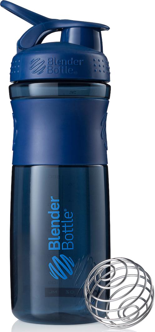 Шейкер спортивный BlenderBottle SportMixer, цвет: темно-синий, 828 млBB-SM28-NAVYСтиль, инновации и универсальность в равной мере. BlenderBottle SportMixer принял вызов вашей активной, деловой и спортивной жизни. Новое понимание, что значит быть современной бутылкой для воды. Идеален для: - Воды - Смешивания любых напитков - Электролитов - Энергетических напитков - Заменителей пищи - Пищевых добавок - Протеиновые смеси - Смузи и шейки - Смеси с клетчаткой и многое другое.Прочный. Не впитывает запахи. Безопасный. SportMixer остается прочным и прозрачным в течение всего срока эксплуатации. Он изготовлен из безопасного пластика с закрытыми порами, Eastman Tritan, который не содержит бисфенолы (BPA, BPS и другие) и фталаты. Материал не выделяет вредных веществ и не впитывает запахи, а значит вы сможете в полной мере насладиться вкусом вашего напитка не переживая за свое здоровье и здоровье ваших близких!Закройте, подвесьте на сумке и носите с собой. Удобное кольцо на крышке позволяет легко крепить SportMixer к сумке или рюкзаку и взять его собой в тренажерный зал или в офис. Кольцо SportLoop разработано таким образом, что при любом весе бутылки и нагрузке крышка останется закрытой.Не выскользнет из рук. Ребра на крышке и объемное изображение на резиновом SportGrip обеспечивает крепкое сцепление даже со влажной ладонью, трясете ли вы питательный или протеиновый коктейль, или держите его в руке во время утренней пробежки.Смешивай! Что-то больше, чем просто вода? Запатентованный шарик-венчик BlenderBall смешивает энергетические напитки и электролиты, протеиновые коктейли и многое другое, легко! Шарик BlenderBall разворачивается внутри бутылки, смешивая ваши напитки до однородной консистенции, каждый раз, сотни раз. Изготовлен из 316-хирургической нержавеющей стали, что позволяет не вынимать BlenderBall из бутылки с вашим напитком: он не ржавеет и не подтвержден коррозии.Как повысить эффективность тренировок с помощью спортивного питания? Статья OZON Гид