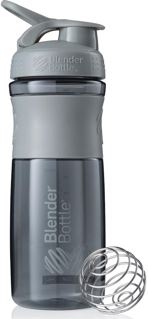 Шейкер спортивный BlenderBottle SportMixer, цвет: серый, 828 млBB-SM28-PGREСтиль, инновации и универсальность в равной мере. BlenderBottle SportMixer принял вызов Вашей активной, деловой и спортивной жизни. Новое понимание, что значит быть современной «бутылкой для воды»Идеален для:- Воды- Смешивания любых напитков- Электролитов- Энергетических напитков- Заменителей пищи- Пищевых добавок- Протеиновые смеси- Смузи и шейки- Смеси с клетчаткой и многое другоеПрочный. Не впитывает запахи. Безопасный.SportMixer остается прочным и прозрачным в течение всего срока эксплуатации. Он изготовлен из безопасного пластика с закрытыми порами, Eastman Tritan, который не содержит бисфенолы (BPA, BPS и другие) и фталаты. Материал не выделяет вредных веществ и не впитывает запахи, а значит вы сможете в полной мере насладиться вкусом вашего напитка не переживая за свое здоровье и здоровье ваших близких!Закройте, подвесьте на сумке и носите с собой.Удобное кольцо на крышке позволяет легко крепить SportMixer к сумке или рюкзаку и взять его собой в тренажерный зал или в офис. Кольцо SportLoop разработано таким образом, что при любом весе бутылки и нагрузке крышка останется закрытой.Не выскользнет из рук.Ребра на крышке и объемное изображение на резиновом SportGrip обеспечивает крепкое сцепление даже со влажной ладонью, трясете ли вы питательный или протеиновый коктейль, или держите его в руке во время утренней пробежки.СмешивайЧто-то больше, чем просто вода? Запатентованный шарик-венчик BlenderBall смешивает энергетические напитки и электролиты, протеиновые коктейли и многое другое, легко! Шарик BlenderBall разворачивается внутри бутылки, смешивая Ваши напитки до однородной консистенции, каждый раз, сотни раз. Изготовлен из 316-хирургической нержавеющей стали, что позволяет не вынимать BlenderBall из бутылки с Вашим напитком: он не ржавеет и не подтвержден коррозии.