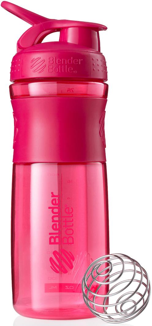 Шейкер спортивный BlenderBottle SportMixer, цвет: розовый, фуксия, 828 млBB-SM28-PINKСтиль, инновации и универсальность в равной мере. BlenderBottle SportMixer принял вызов Вашей активной, деловой и спортивной жизни. Новое понимание, что значит быть современной «бутылкой для воды»Идеален для:- Воды- Смешивания любых напитков- Электролитов- Энергетических напитков- Заменителей пищи- Пищевых добавок- Протеиновые смеси- Смузи и шейки- Смеси с клетчаткой и многое другоеПрочный. Не впитывает запахи. Безопасный.SportMixer остается прочным и прозрачным в течение всего срока эксплуатации. Он изготовлен из безопасного пластика с закрытыми порами, Eastman Tritan, который не содержит бисфенолы (BPA, BPS и другие) и фталаты. Материал не выделяет вредных веществ и не впитывает запахи, а значит вы сможете в полной мере насладиться вкусом вашего напитка не переживая за свое здоровье и здоровье ваших близких!Закройте, подвесьте на сумке и носите с собой.Удобное кольцо на крышке позволяет легко крепить SportMixer к сумке или рюкзаку и взять его собой в тренажерный зал или в офис. Кольцо SportLoop разработано таким образом, что при любом весе бутылки и нагрузке крышка останется закрытой.Не выскользнет из рук.Ребра на крышке и объемное изображение на резиновом SportGrip обеспечивает крепкое сцепление даже со влажной ладонью, трясете ли вы питательный или протеиновый коктейль, или держите его в руке во время утренней пробежки.СмешивайЧто-то больше, чем просто вода? Запатентованный шарик-венчик BlenderBall смешивает энергетические напитки и электролиты, протеиновые коктейли и многое другое, легко! Шарик BlenderBall разворачивается внутри бутылки, смешивая Ваши напитки до однородной консистенции, каждый раз, сотни раз. Изготовлен из 316-хирургической нержавеющей стали, что позволяет не вынимать BlenderBall из бутылки с Вашим напитком: он не ржавеет и не подтвержден коррозии.