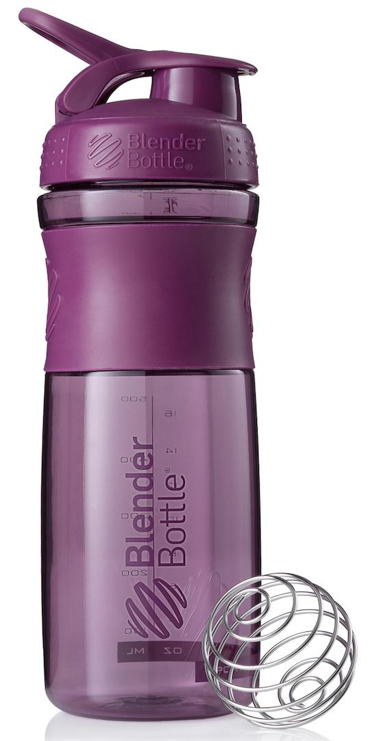 Шейкер спортивный BlenderBottle SportMixer, цвет: фиолетовый, 828 млBB-SM28-PLUMСтиль, инновации и универсальность в равной мере. BlenderBottle SportMixer принял вызов Вашей активной, деловой и спортивной жизни. Новое понимание, что значит быть современной «бутылкой для воды»Идеален для:- Воды- Смешивания любых напитков- Электролитов- Энергетических напитков- Заменителей пищи- Пищевых добавок- Протеиновые смеси- Смузи и шейки- Смеси с клетчаткой и многое другоеПрочный. Не впитывает запахи. Безопасный.SportMixer остается прочным и прозрачным в течение всего срока эксплуатации. Он изготовлен из безопасного пластика с закрытыми порами, Eastman Tritan, который не содержит бисфенолы (BPA, BPS и другие) и фталаты. Материал не выделяет вредных веществ и не впитывает запахи, а значит вы сможете в полной мере насладиться вкусом вашего напитка не переживая за свое здоровье и здоровье ваших близких!Закройте, подвесьте на сумке и носите с собой.Удобное кольцо на крышке позволяет легко крепить SportMixer к сумке или рюкзаку и взять его собой в тренажерный зал или в офис. Кольцо SportLoop разработано таким образом, что при любом весе бутылки и нагрузке крышка останется закрытой.Не выскользнет из рук.Ребра на крышке и объемное изображение на резиновом SportGrip обеспечивает крепкое сцепление даже со влажной ладонью, трясете ли вы питательный или протеиновый коктейль, или держите его в руке во время утренней пробежки.СмешивайЧто-то больше, чем просто вода? Запатентованный шарик-венчик BlenderBall смешивает энергетические напитки и электролиты, протеиновые коктейли и многое другое, легко! Шарик BlenderBall разворачивается внутри бутылки, смешивая Ваши напитки до однородной консистенции, каждый раз, сотни раз. Изготовлен из 316-хирургической нержавеющей стали, что позволяет не вынимать BlenderBall из бутылки с Вашим напитком: он не ржавеет и не подтвержден коррозии.