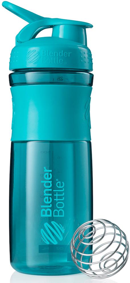 Шейкер спортивный BlenderBottle SportMixer, цвет: голубой, 828 млBB-SM28-TEALСтиль, инновации и универсальность в равной мере. BlenderBottle SportMixer принял вызов Вашей активной, деловой и спортивной жизни. Новое понимание, что значит быть современной «бутылкой для воды»Идеален для:- Воды- Смешивания любых напитков- Электролитов- Энергетических напитков- Заменителей пищи- Пищевых добавок- Протеиновые смеси- Смузи и шейки- Смеси с клетчаткой и многое другоеПрочный. Не впитывает запахи. Безопасный.SportMixer остается прочным и прозрачным в течение всего срока эксплуатации. Он изготовлен из безопасного пластика с закрытыми порами, Eastman Tritan, который не содержит бисфенолы (BPA, BPS и другие) и фталаты. Материал не выделяет вредных веществ и не впитывает запахи, а значит вы сможете в полной мере насладиться вкусом вашего напитка не переживая за свое здоровье и здоровье ваших близких!Закройте, подвесьте на сумке и носите с собой.Удобное кольцо на крышке позволяет легко крепить SportMixer к сумке или рюкзаку и взять его собой в тренажерный зал или в офис. Кольцо SportLoop разработано таким образом, что при любом весе бутылки и нагрузке крышка останется закрытой.Не выскользнет из рук.Ребра на крышке и объемное изображение на резиновом SportGrip обеспечивает крепкое сцепление даже со влажной ладонью, трясете ли вы питательный или протеиновый коктейль, или держите его в руке во время утренней пробежки.СмешивайЧто-то больше, чем просто вода? Запатентованный шарик-венчик BlenderBall смешивает энергетические напитки и электролиты, протеиновые коктейли и многое другое, легко! Шарик BlenderBall разворачивается внутри бутылки, смешивая Ваши напитки до однородной консистенции, каждый раз, сотни раз. Изготовлен из 316-хирургической нержавеющей стали, что позволяет не вынимать BlenderBall из бутылки с Вашим напитком: он не ржавеет и не подтвержден коррозии.