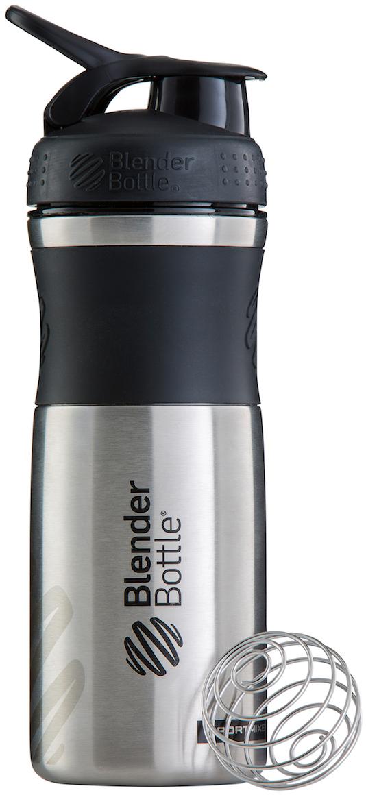 Шейкер спортивный BlenderBottle  SportMixer Stainless , цвет: черный, 828 мл - Шейкеры и бутылки