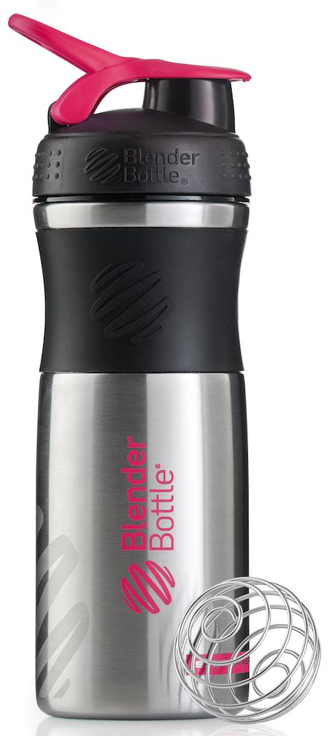 Шейкер спортивный BlenderBottle SportMixer Stainless, цвет: черный, розовый, фуксия, 828 млBB-SMST-BLPIОдна из самых популярных моделей BlenderBottle, шейкер/бутылка для воды SportMixer, теперь доступна в исполнении из высококачественной ударопрочной нержавеющей стали! Идеален для: - Воды - Смешивания любых напитков - Электролитов - Энергетических напитков - Заменителей пищи - Пищевых добавок - Протеиновые смеси - Смузи и шейки - Смеси с клетчаткой и многое другое.Элегантный, прочный, изготовленный из высококачественной однослойной нержавеющей стали - он идеально подходит как для спортивного зала, так и для тренировок на открытом воздухе!Прочный. Не впитывает запахи. Безопасный. BlenderBottle SportMixer Stainless изготовлен из высококачественной однослойной, ударопрочной нержавеющей стали, маркировка 18/8. Цифра 18 обозначает содержание хрома. Именно хром отвечает за нержавеющие свойства материала. Вторая цифра, 8, говорит о содержании никеля. Никель придает изделию из нержавеющей стали те самые зеркальность и блеск. Никаких пятен, ржавчины или коррозии: ваш Sportmixer будет радовать вас в течение всего срока эксплуатации!Закройте, подвесьте на сумке и носите с собой. Удобное кольцо на крышке позволяет легко крепить SportMixer к сумке или рюкзаку и взять его собой в тренажерный зал или в офис. Кольцо SportLoop разработано таким образом, что при любом весе бутылки и нагрузке крышка останется закрытой.Не выскользнет из рук. Ребра на крышке и объемное изображение на резиновом SportGrip обеспечивает крепкое сцепление даже со влажной ладонью, смешиваете ли вы питательный или протеиновый коктейль, или держите его в руке во время утренней пробежки.Смешивай! Что-то больше, чем просто вода? Запатентованный шарик-венчик BlenderBall смешивает энергетические напитки и электролиты, протеиновые коктейли и многое другое, легко! Шарик BlenderBall разворачивается внутри бутылки, смешивая ваши напитки до однородной консистенции, каждый раз, сотни раз. Изготовлен из 316-хирургической 