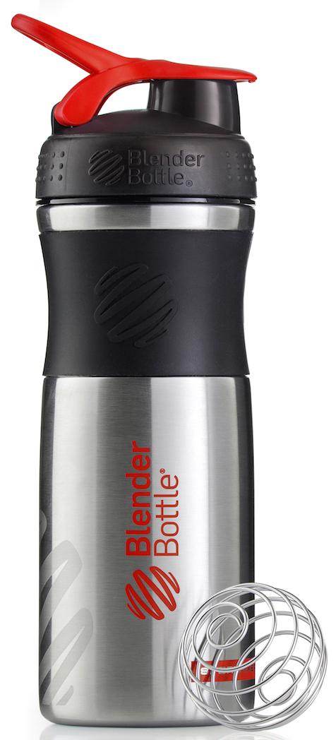 Шейкер спортивный BlenderBottle SportMixer Stainless, цвет: черный, красный, 828 млBB-SMST-BLREОдна из самых популярных моделей BlenderBottle, шейкер/бутылка для воды SportMixer, теперь доступна в исполнении из высококачественной ударопрочной нержавеющей стали! Идеален для: - Воды - Смешивания любых напитков - Электролитов - Энергетических напитков - Заменителей пищи - Пищевых добавок - Протеиновые смеси - Смузи и шейки - Смеси с клетчаткой и многое другое.Элегантный, прочный, изготовленный из высококачественной однослойной нержавеющей стали - он идеально подходит как для спортивного зала, так и для тренировок на открытом воздухе!Прочный. Не впитывает запахи. Безопасный. BlenderBottle SportMixer Stainless изготовлен из высококачественной однослойной, ударопрочной нержавеющей стали, маркировка 18/8. Цифра 18 обозначает содержание хрома. Именно хром отвечает за нержавеющие свойства материала. Вторая цифра, 8, говорит о содержании никеля. Никель придает изделию из нержавеющей стали те самые зеркальность и блеск. Никаких пятен, ржавчины или коррозии: ваш Sportmixer будет радовать вас в течение всего срока эксплуатации!Закройте, подвесьте на сумке и носите с собой. Удобное кольцо на крышке позволяет легко крепить SportMixer к сумке или рюкзаку и взять его собой в тренажерный зал или в офис. Кольцо SportLoop разработано таким образом, что при любом весе бутылки и нагрузке крышка останется закрытой.Не выскользнет из рук. Ребра на крышке и объемное изображение на резиновом SportGrip обеспечивает крепкое сцепление даже со влажной ладонью, смешиваете ли вы питательный или протеиновый коктейль, или держите его в руке во время утренней пробежки.Смешивай Что-то больше, чем просто вода? Запатентованный шарик-венчик BlenderBall смешивает энергетические напитки и электролиты, протеиновые коктейли и многое другое, легко! Шарик BlenderBall разворачивается внутри бутылки, смешивая ваши напитки до однородной консистенции, каждый раз, сотни раз. Изготовлен из 316-хирургической нержавеющ