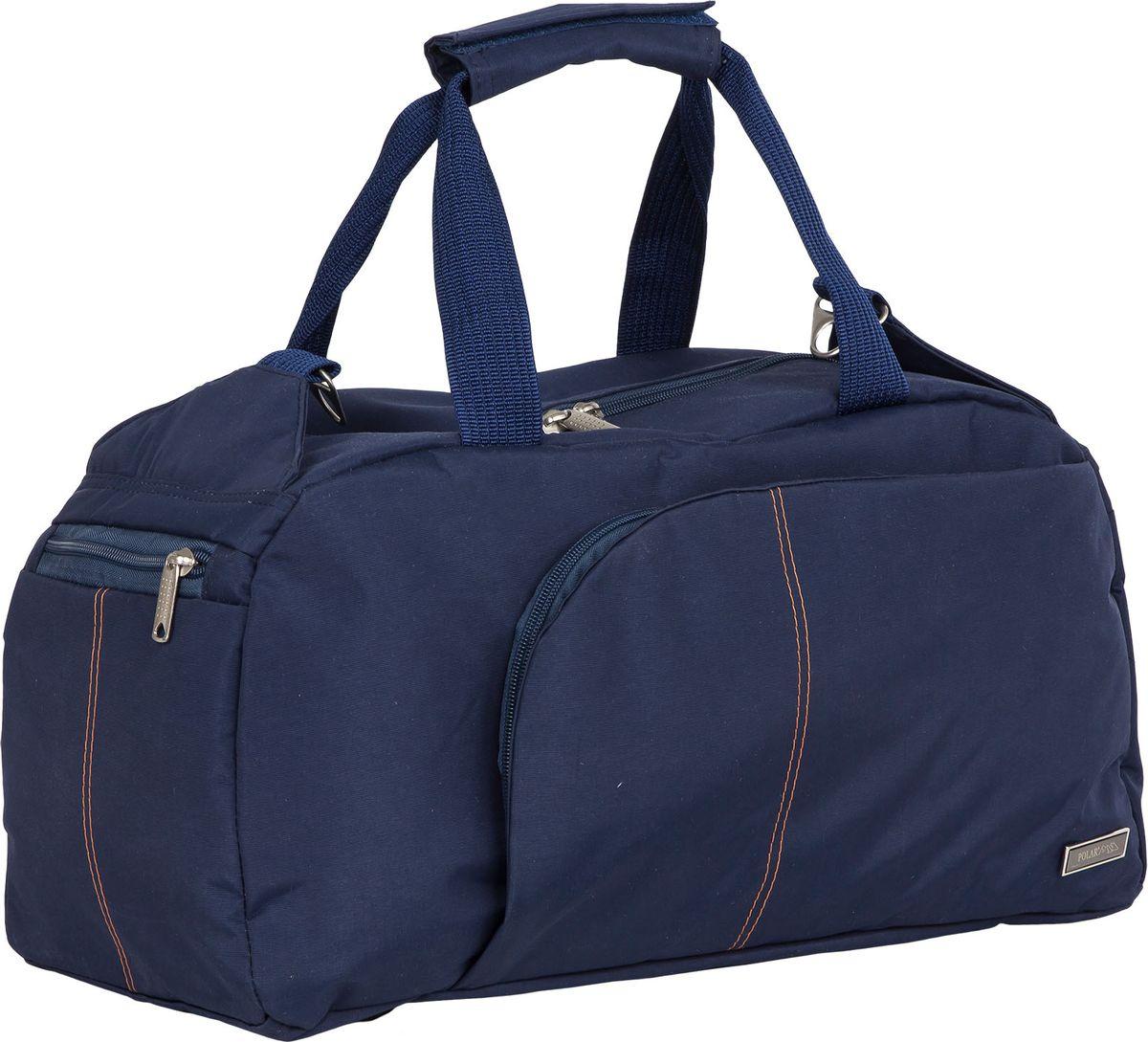 Сумка для фитнеса Polar, цвет: синий, 24 л. П7072П7072Вместительнаядорожная сумка Polar - незаменимый аксессуар в путешествиях, походах и просто для занятий спортом.Выполнена из высокопрочного полимера. Благодаря удобной организации пространства сумки (большое отделение с карманом на молнии, два боковых кармана для мелочей на молнии и карманы на передней и задней частях сумки) вы сможете быстро находить такие нужные вещи как кошелек, ключи, документы и пр.. Сумка оснащена ножками-подставками из прочного износостойкого пластика для бережной эксплуатации.В комплект входит съемный плечевой ремень для удобного ношения.Высота ручек 20 см.